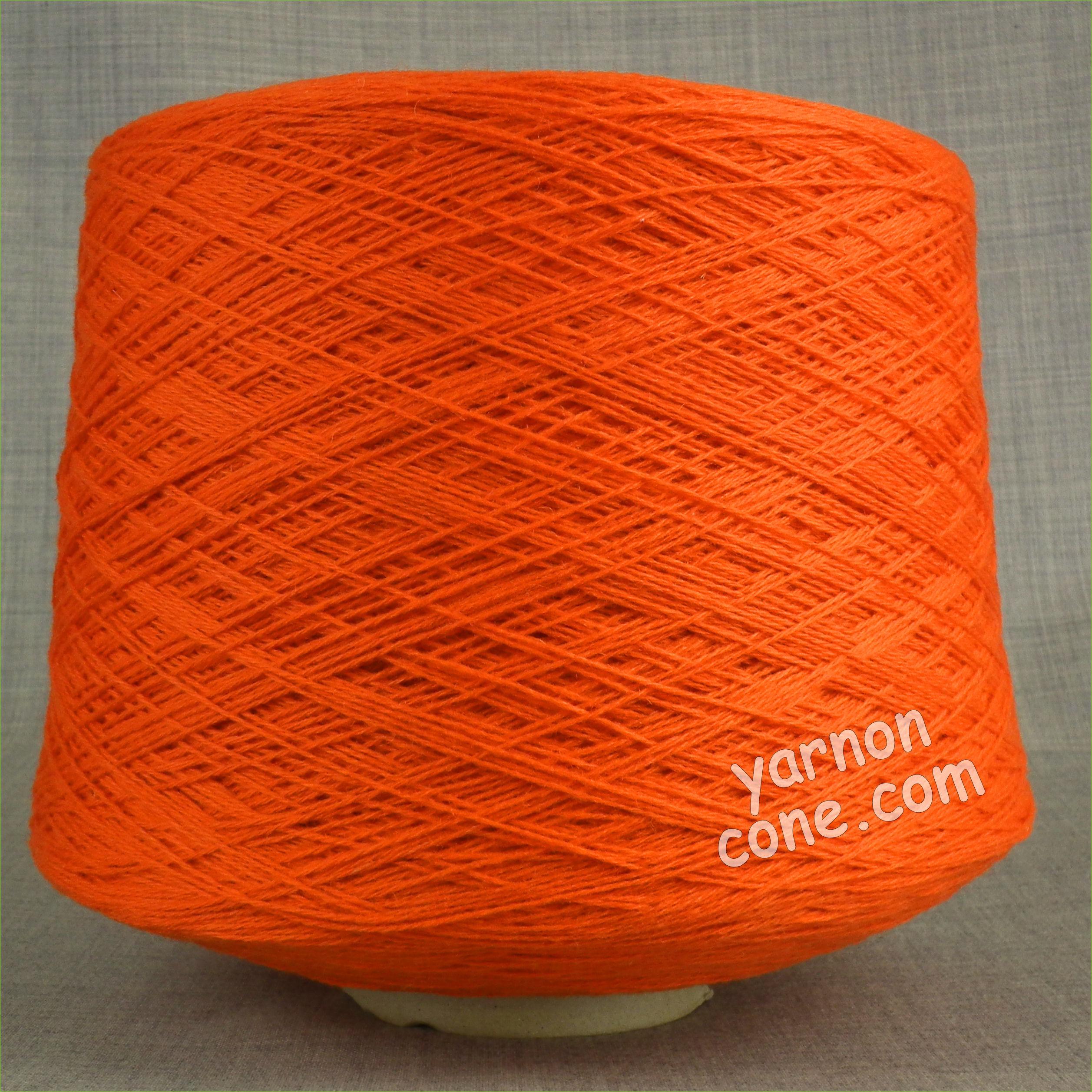 natural fantasy extrageelong geelong merino wool pure italian salmone orange 3 4 ply knitting yarn on cone