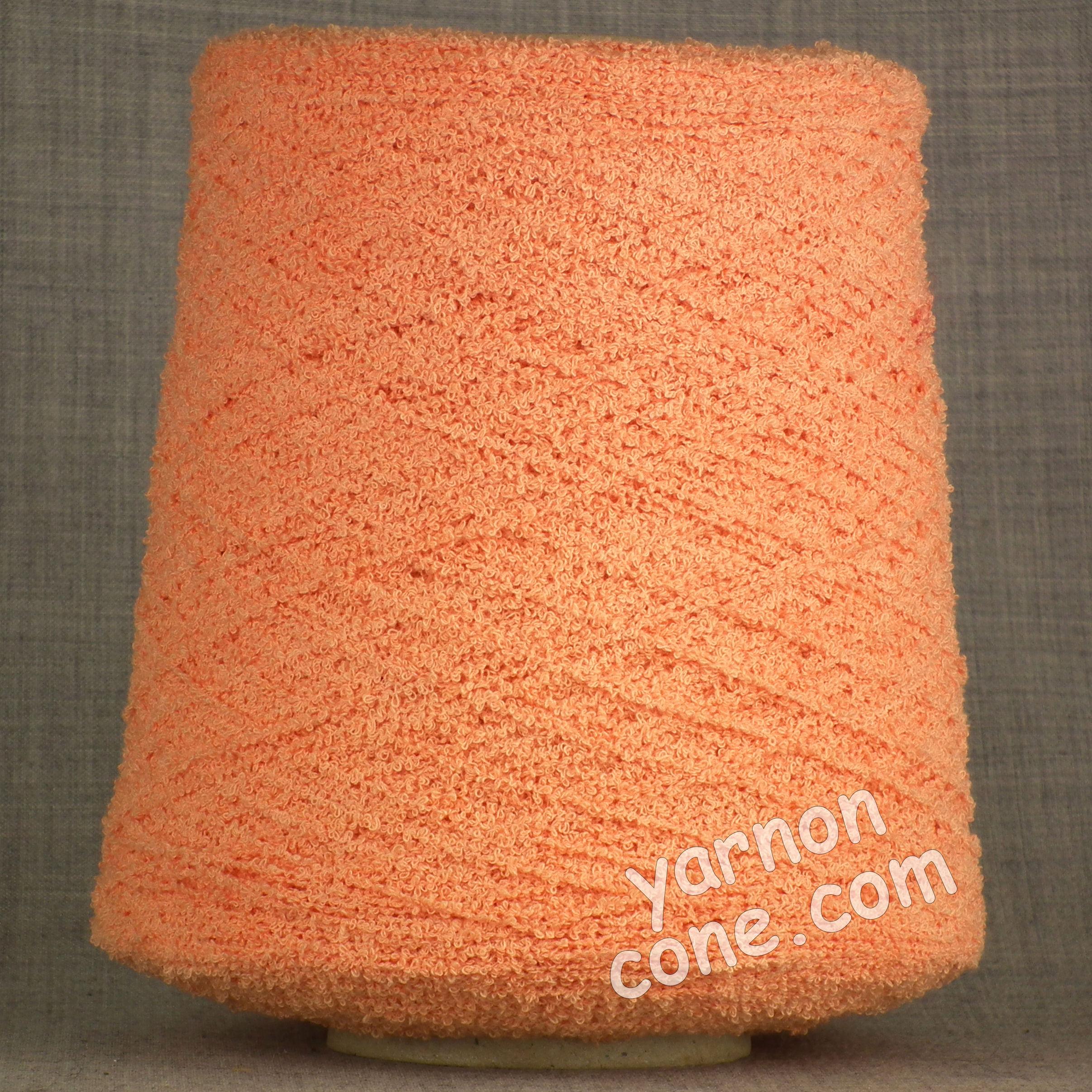 4 ply Italian frise cotton yarn bassetti peach cone