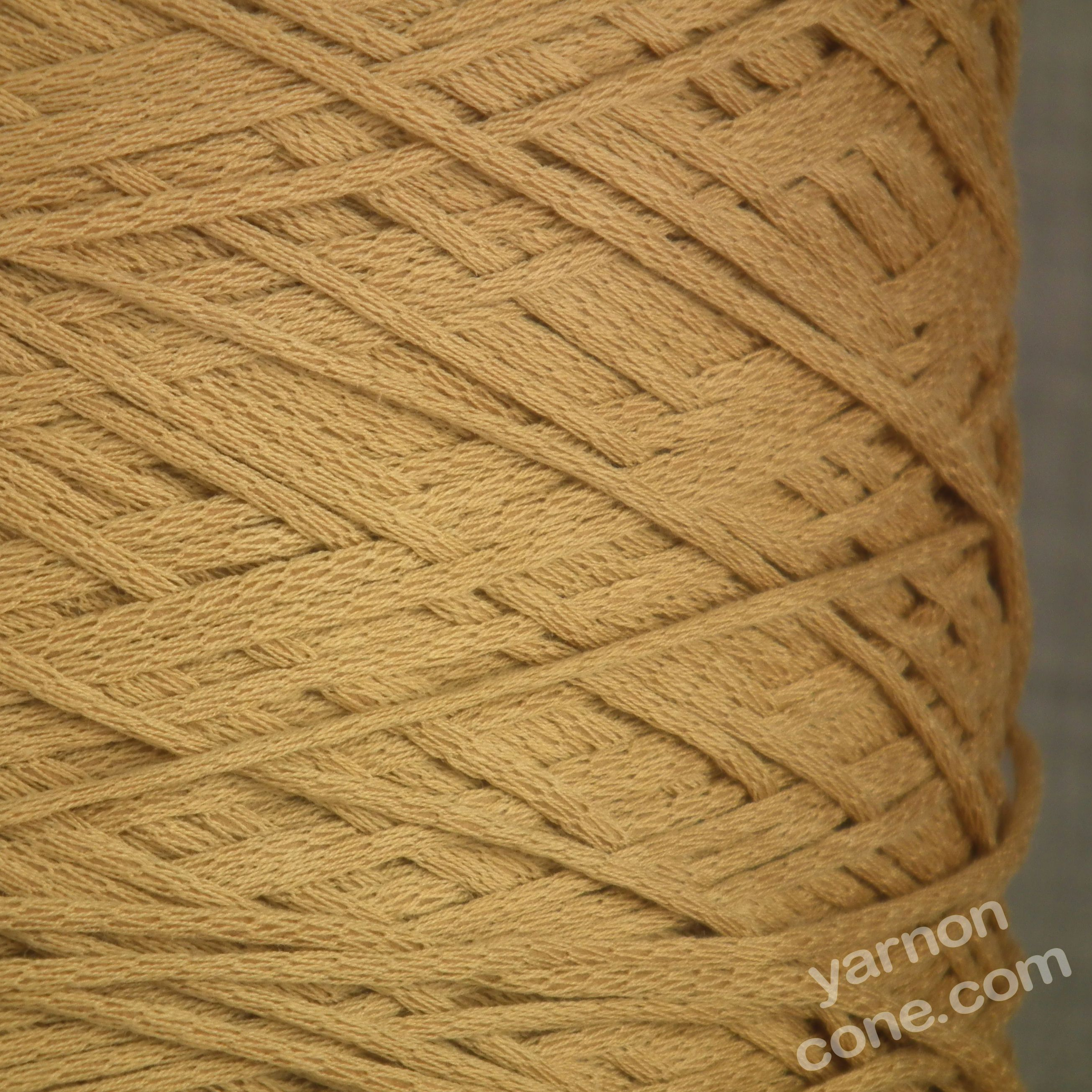 Peruvian Pima cotton 4 ply soffio soft cotton yarn on cone knit crochet weave light brown