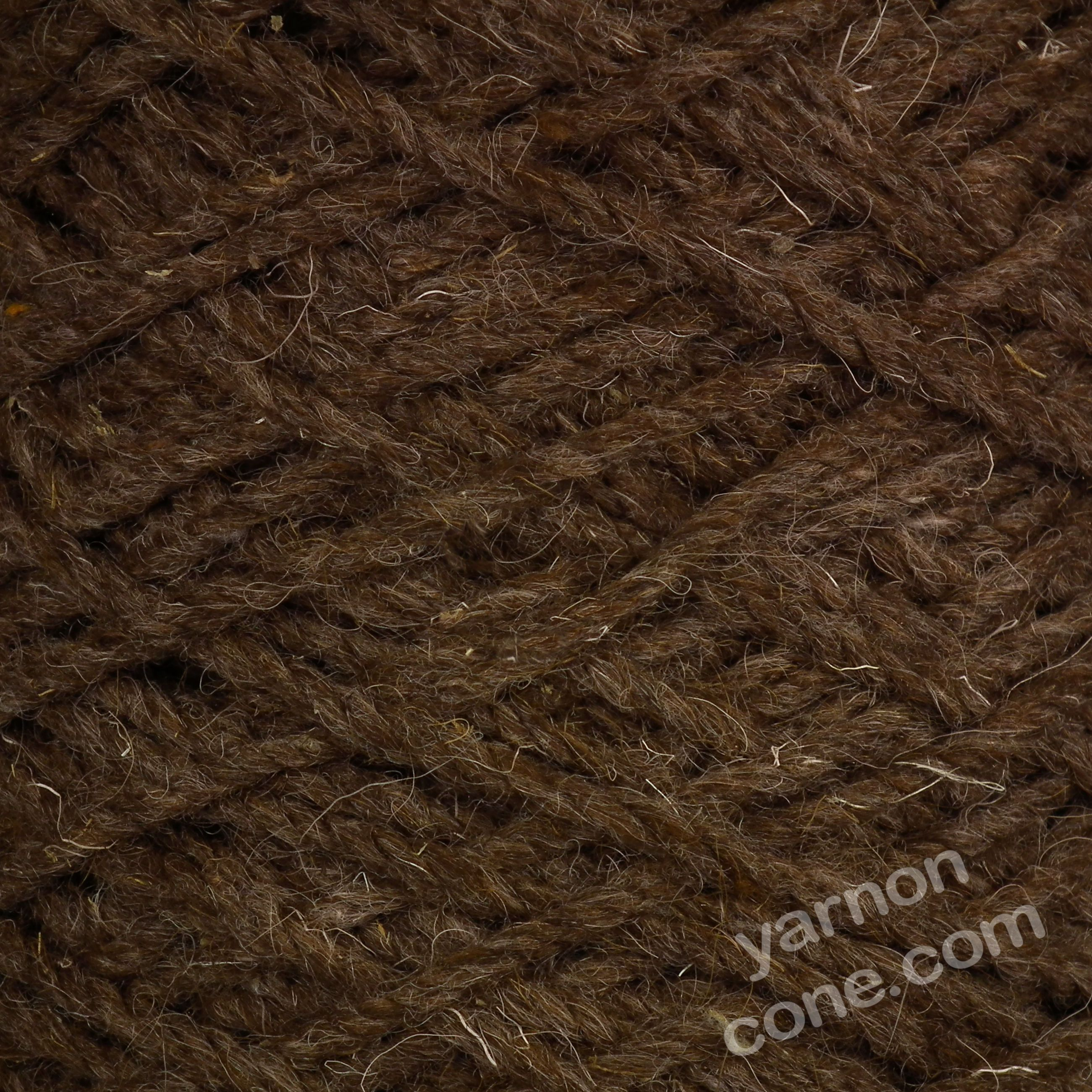 Super Chunky Berber Rug Wool Chocolate Yarn On Cone
