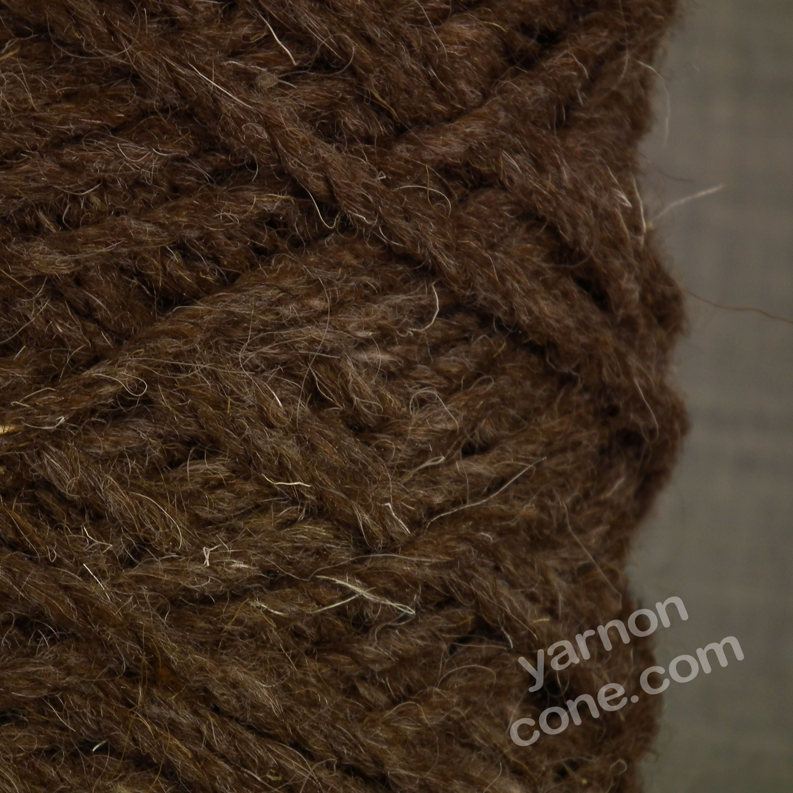 Super chunky berber rug wool chocolate yarn on cone for Wool berber area rug