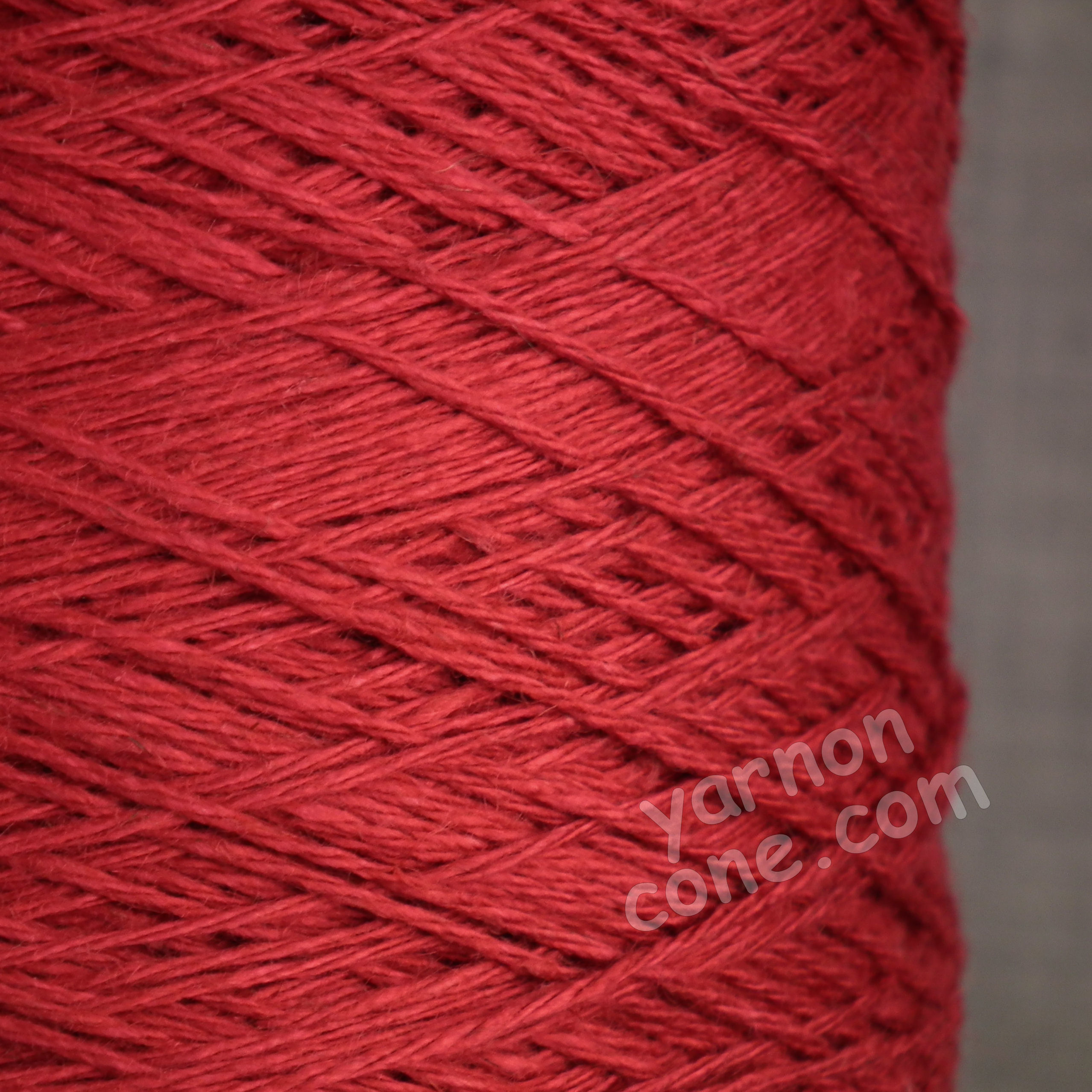soft 4 ply viscose linen yarn on cone knitting weaving crochet scarlet red crimson