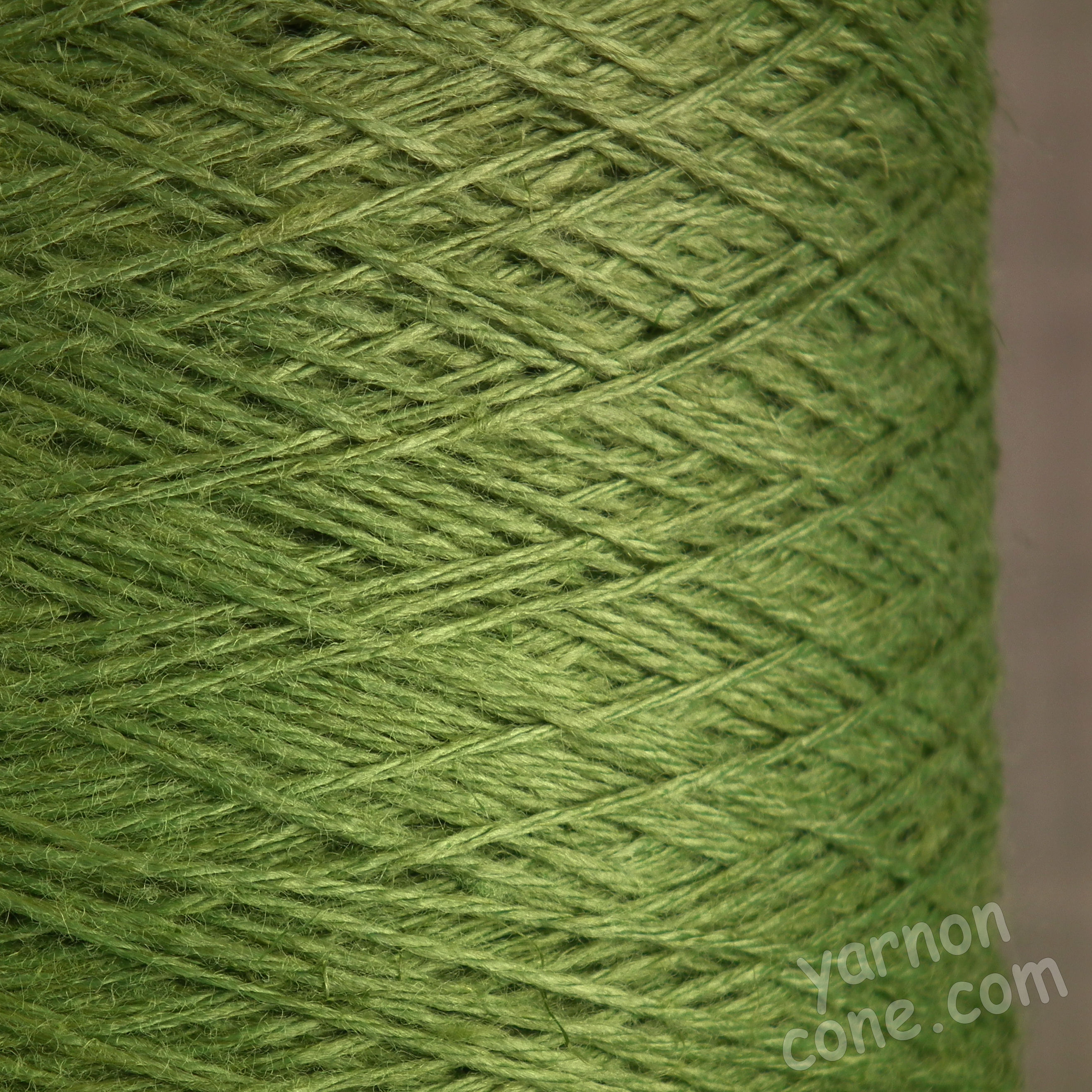soft 4 ply viscose linen yarn on cone knitting weaving crochet green