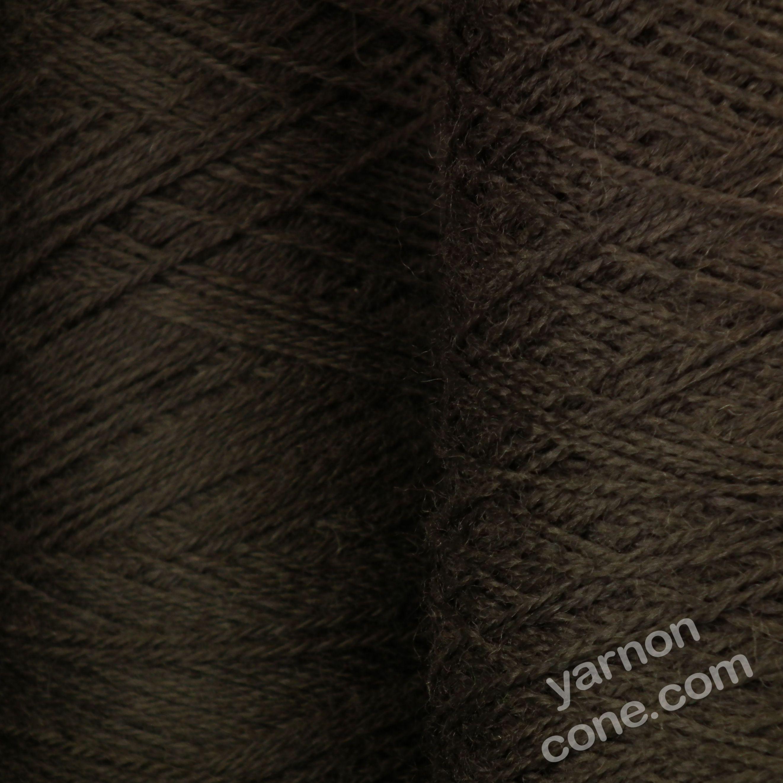 Jura weaving wool 4 ply yarn cone dark brown coffee