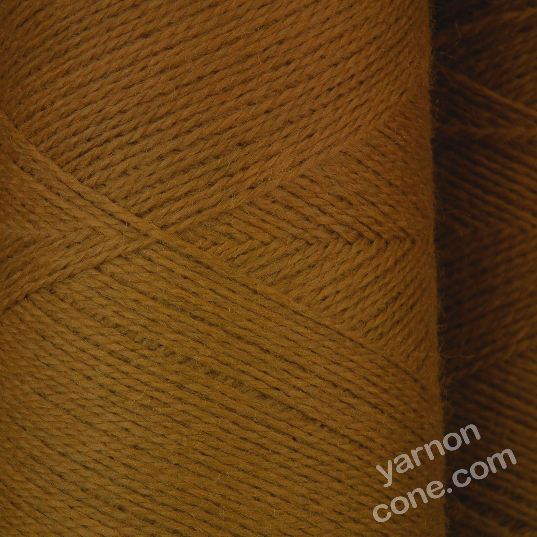 Jura weaving wool 4 ply yarn cone leather brown