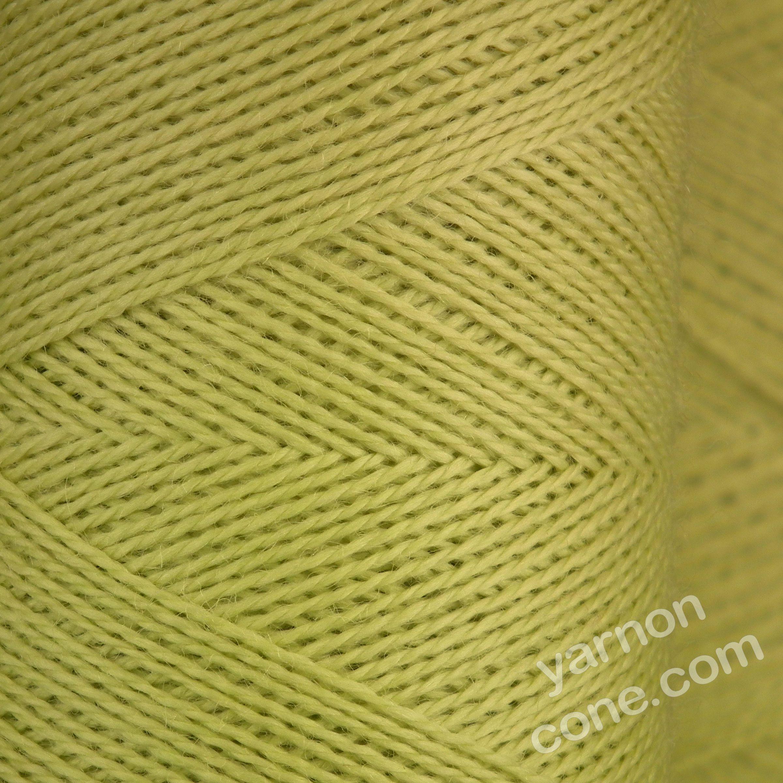 Jura weaving wool 4 ply yarn cone pistachio green light