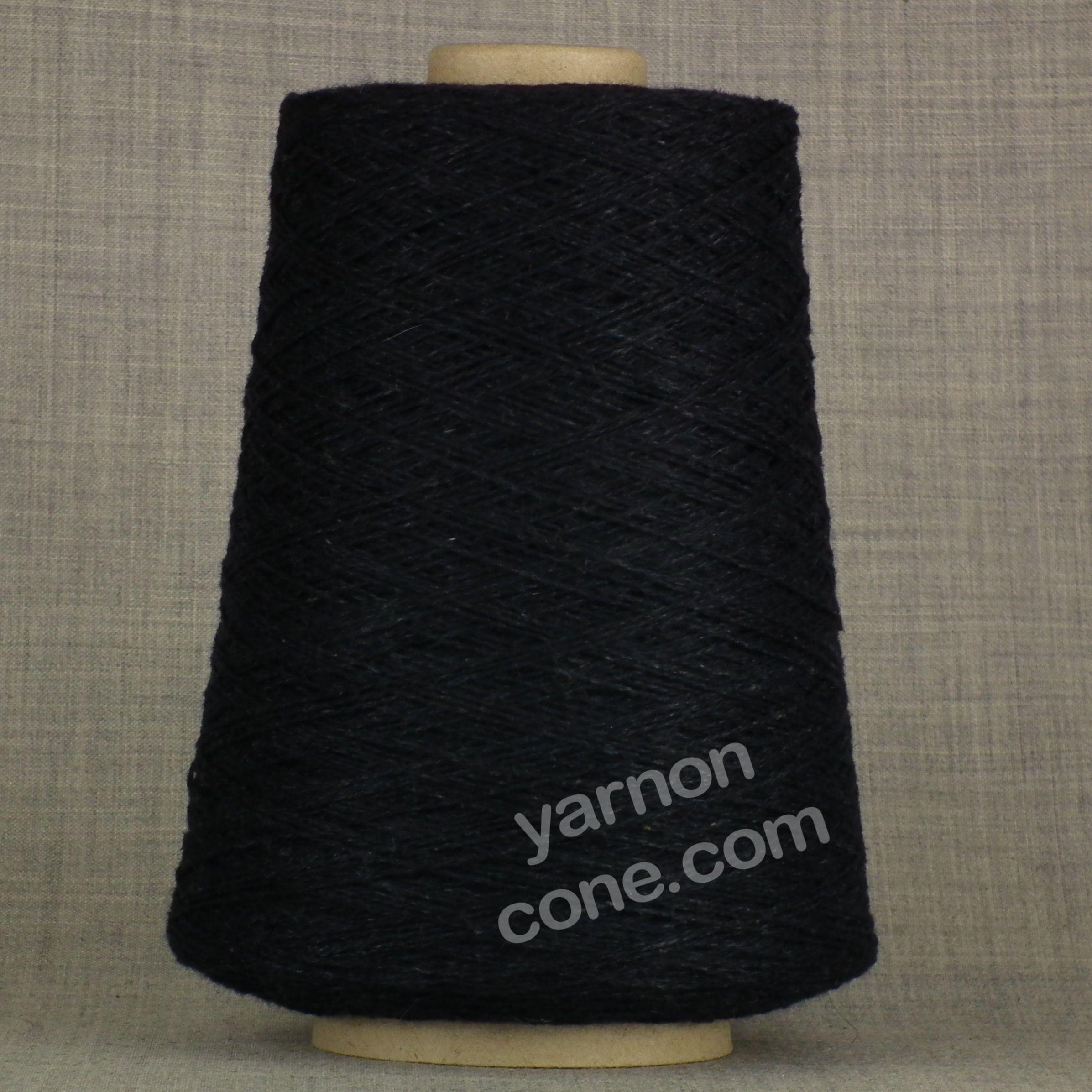 Navy blue dark melange cashmere merino 3 ply yarn on cone wool hand machine knit