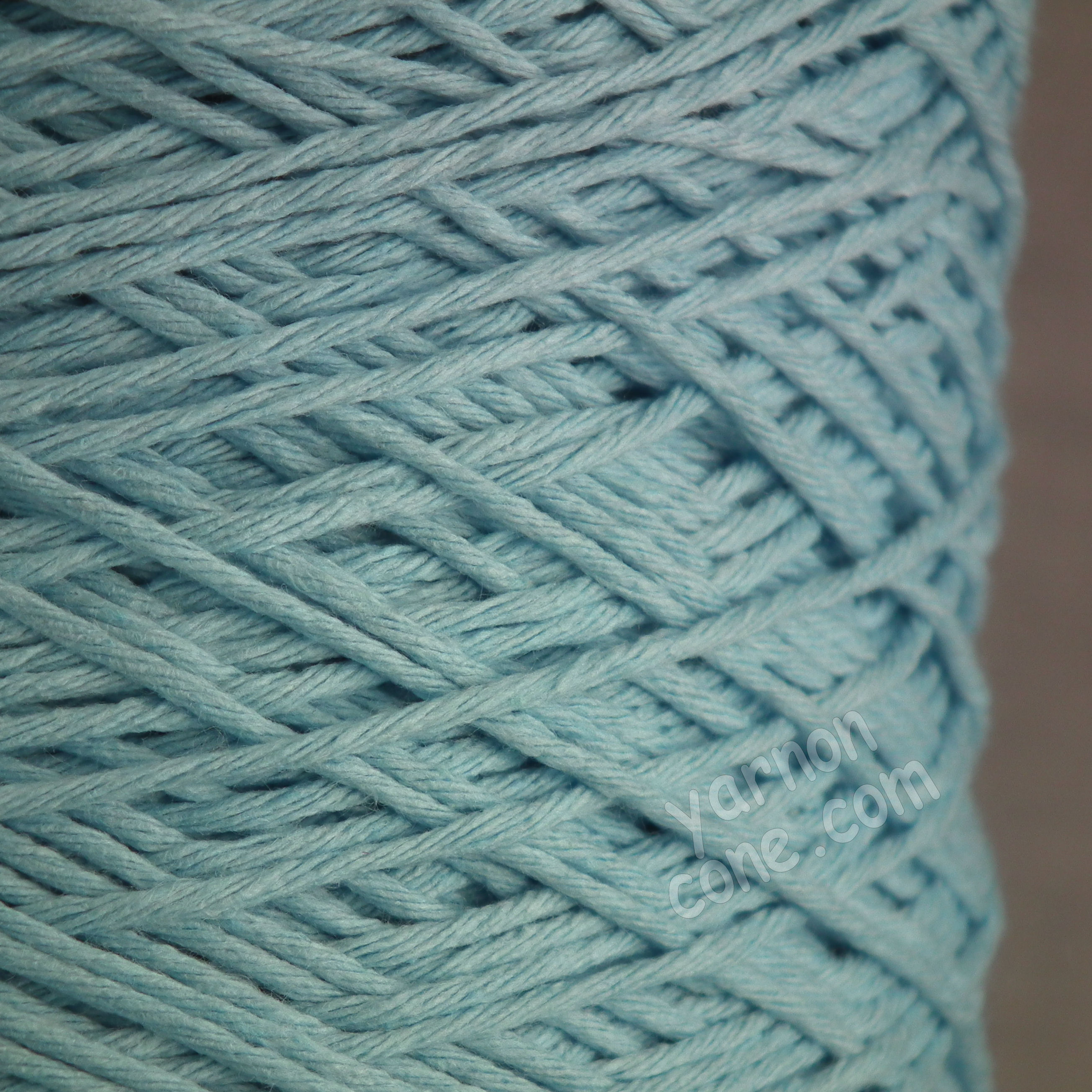 Double knitting DK soft pure cotton yarn on cone hand machine knitting weaving crochet baby blue