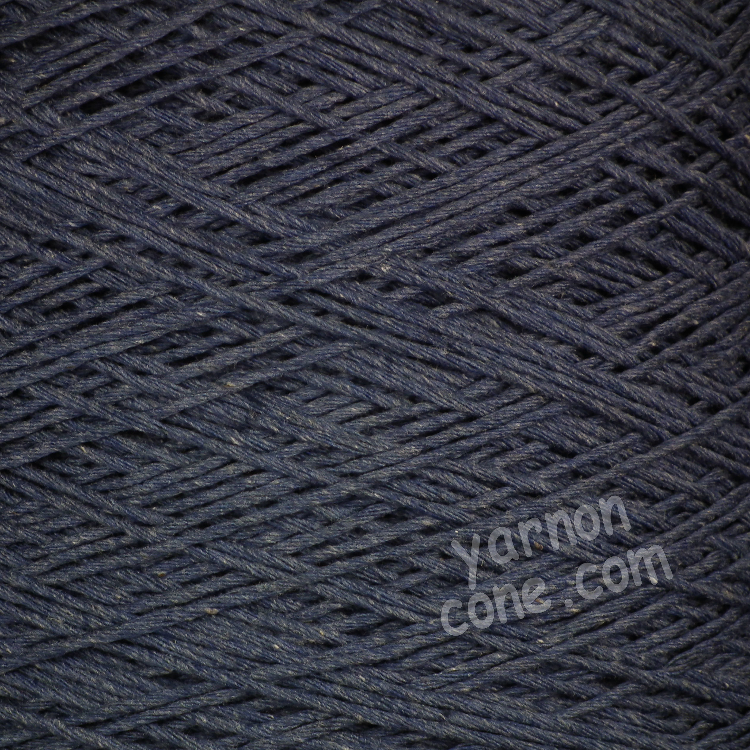 Double knitting DK soft pure cotton yarn on cone hand machine knitting weaving crochet indigo blue
