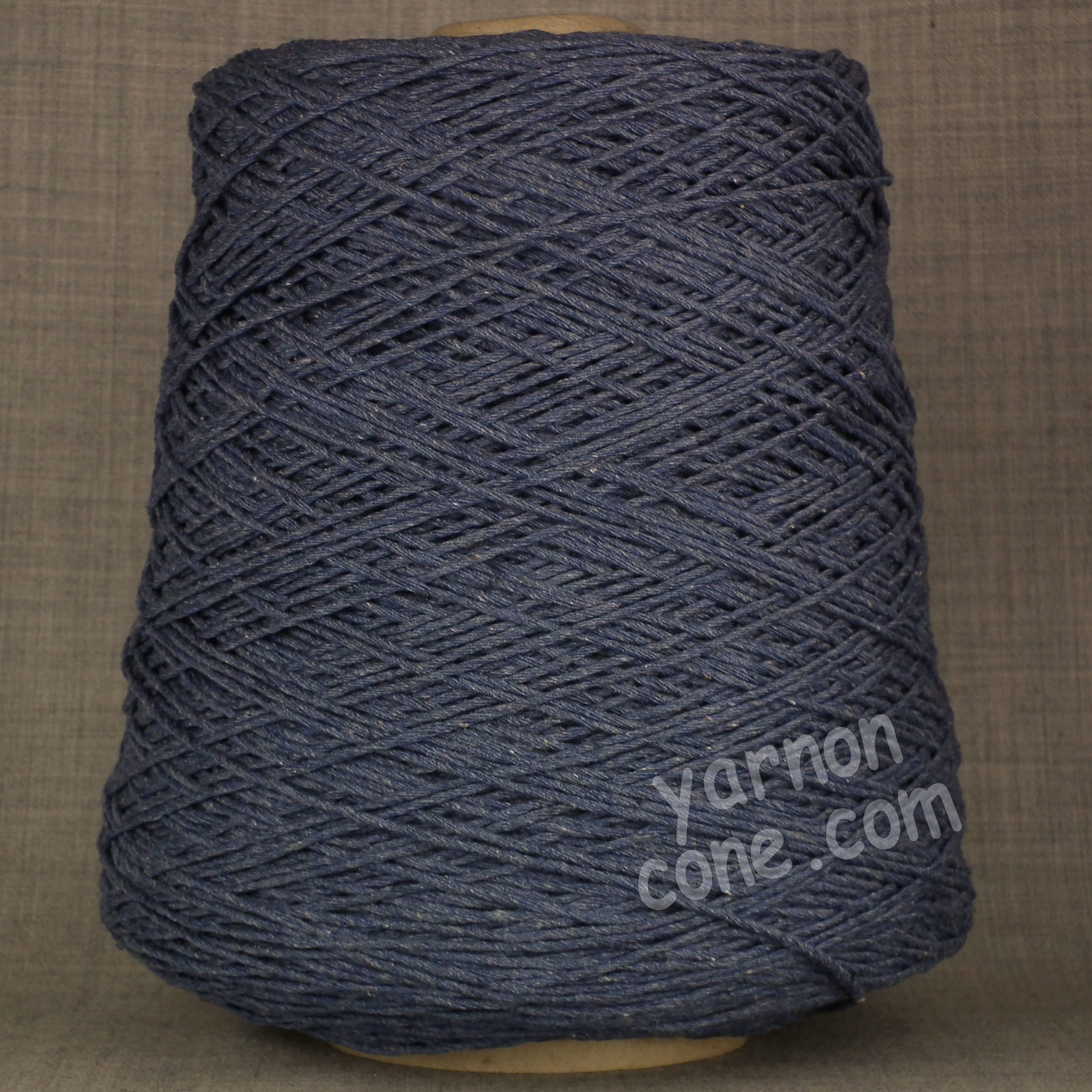 Double knitting DK soft pure cotton yarn on cone hand machine knitting weaving crochet indigo blue