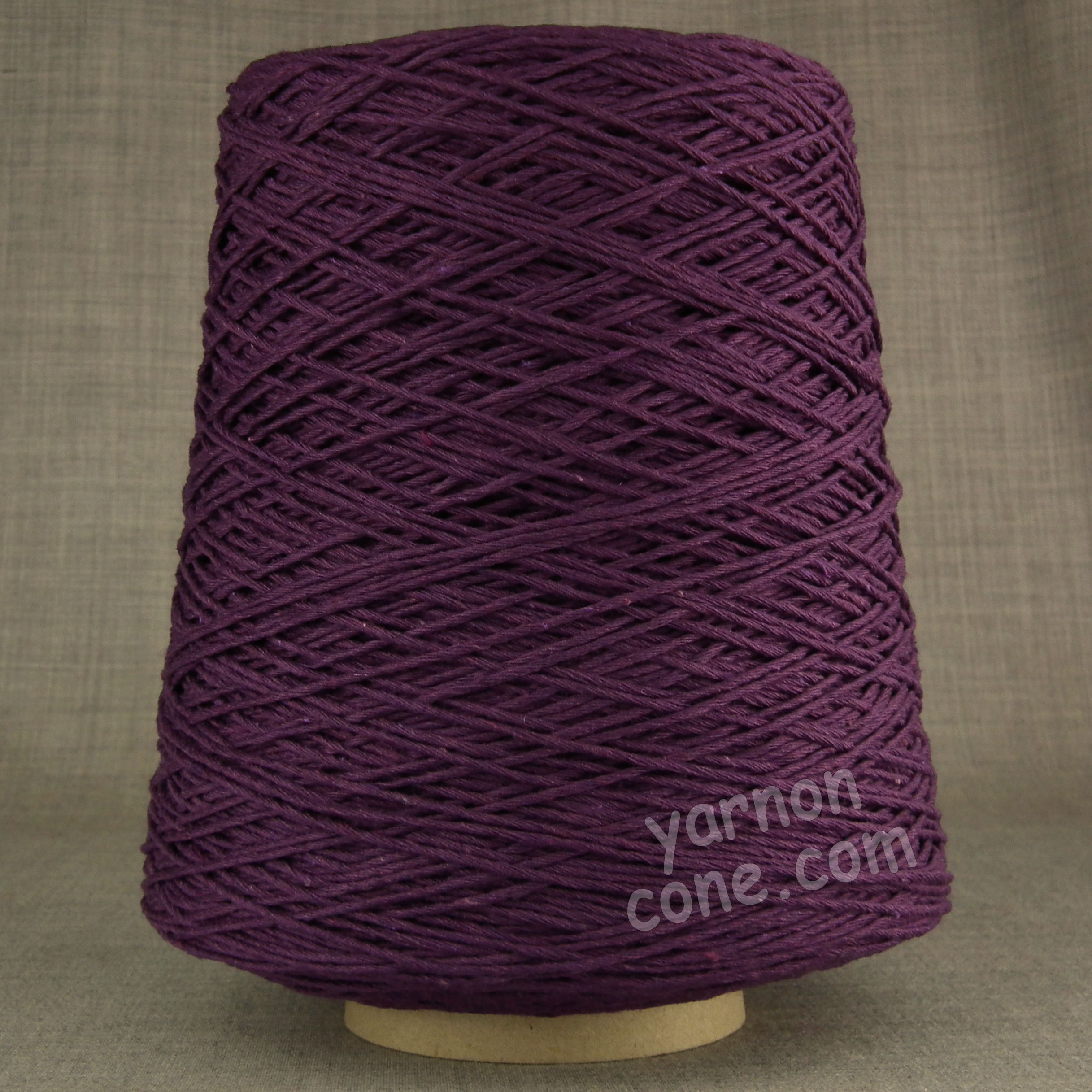 Double knitting DK soft pure cotton yarn on cone hand machine knitting weaving crochet purple