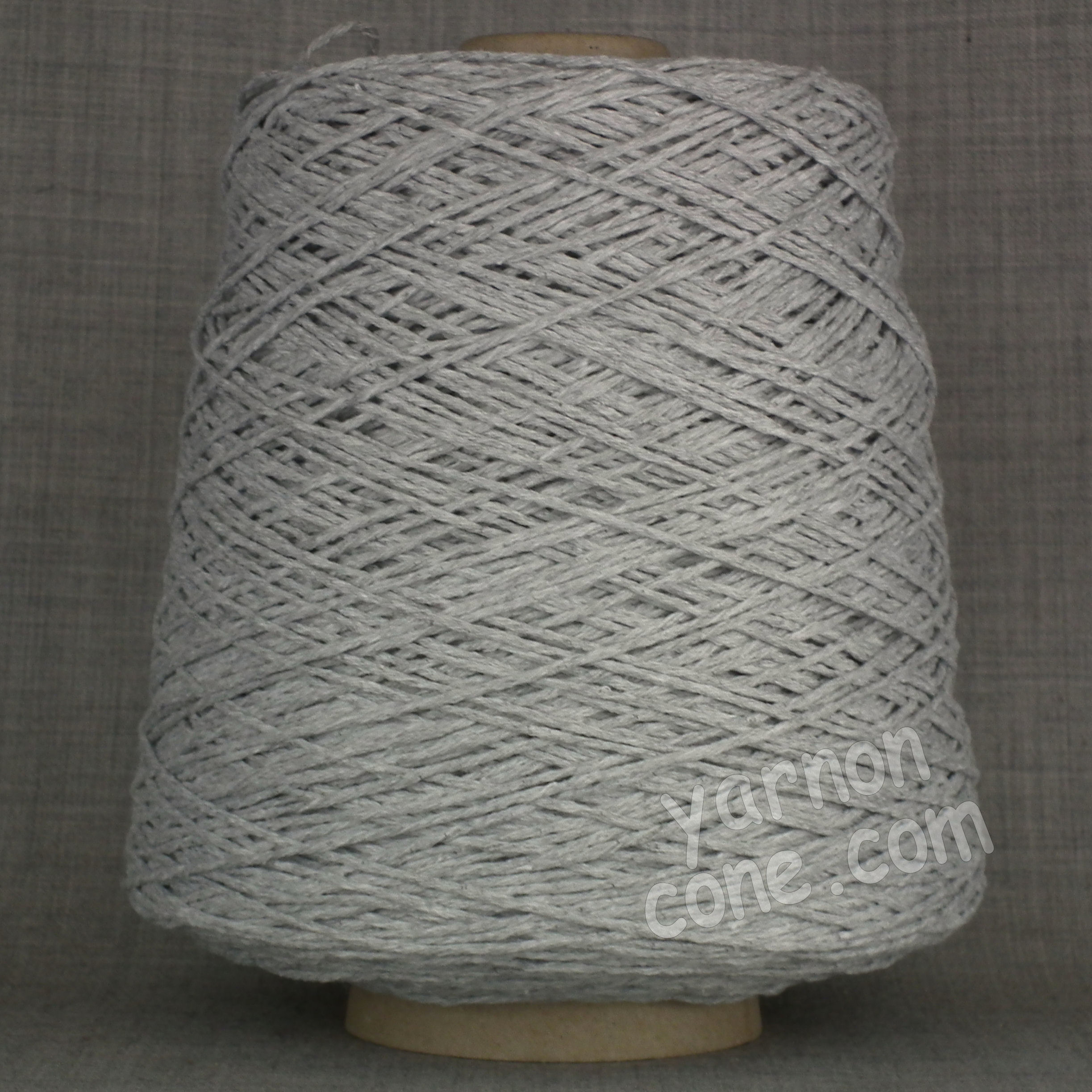 Double knitting DK soft pure cotton yarn on cone hand machine knitting weaving crochet silver grey