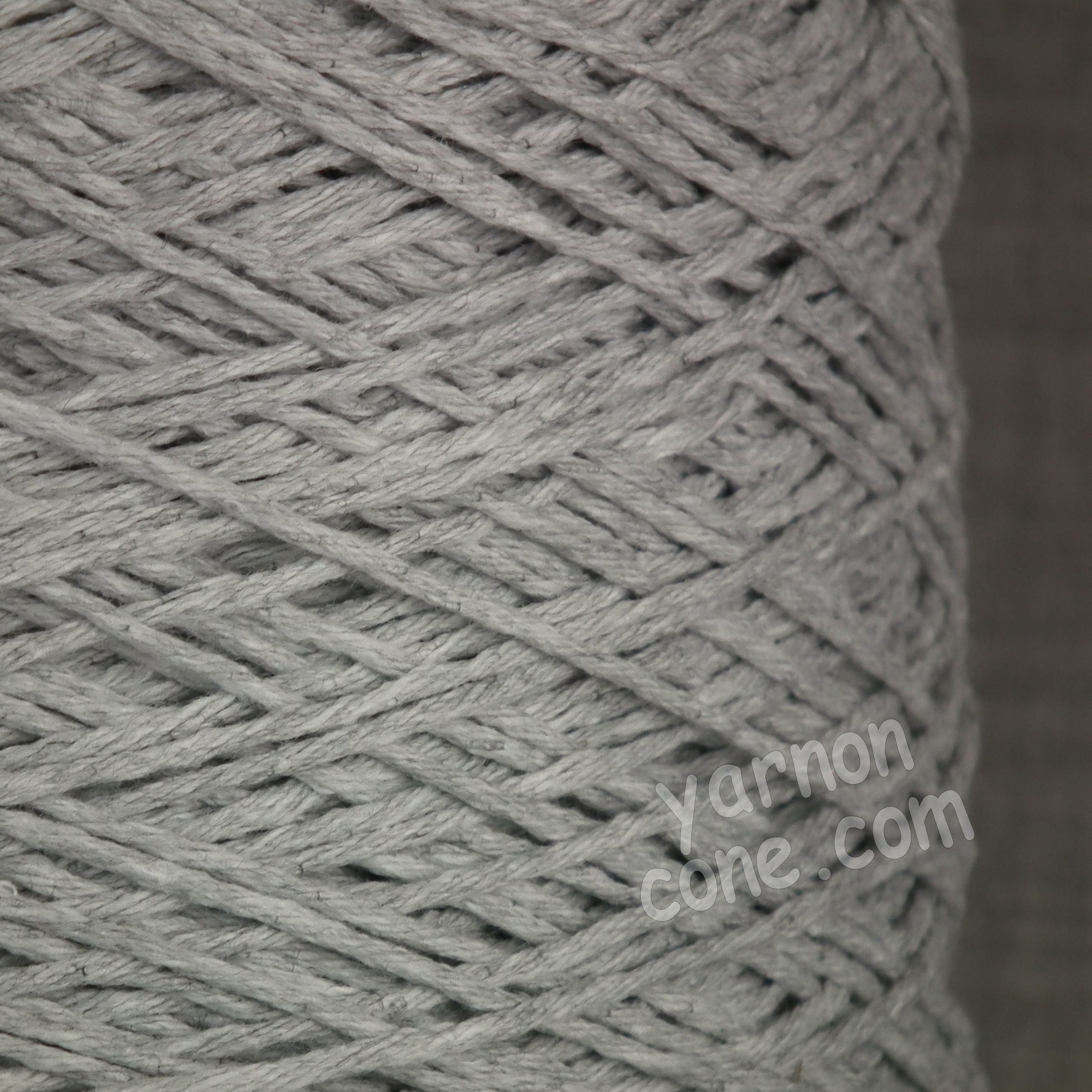 Double Knitting Cotton Silver Grey Yarn On Cone