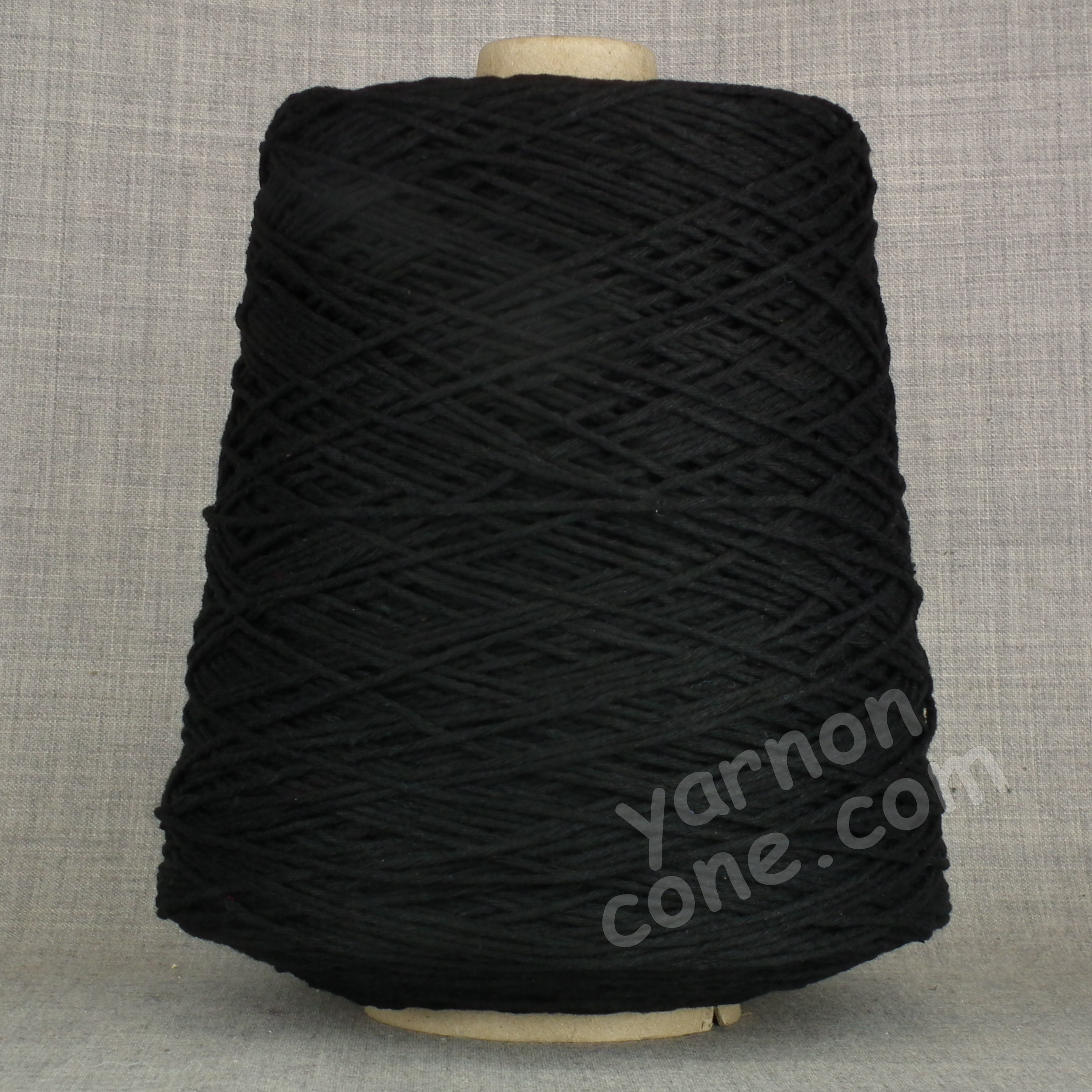 Double knitting DK soft pure cotton yarn on cone hand machine knitting weaving crochet black