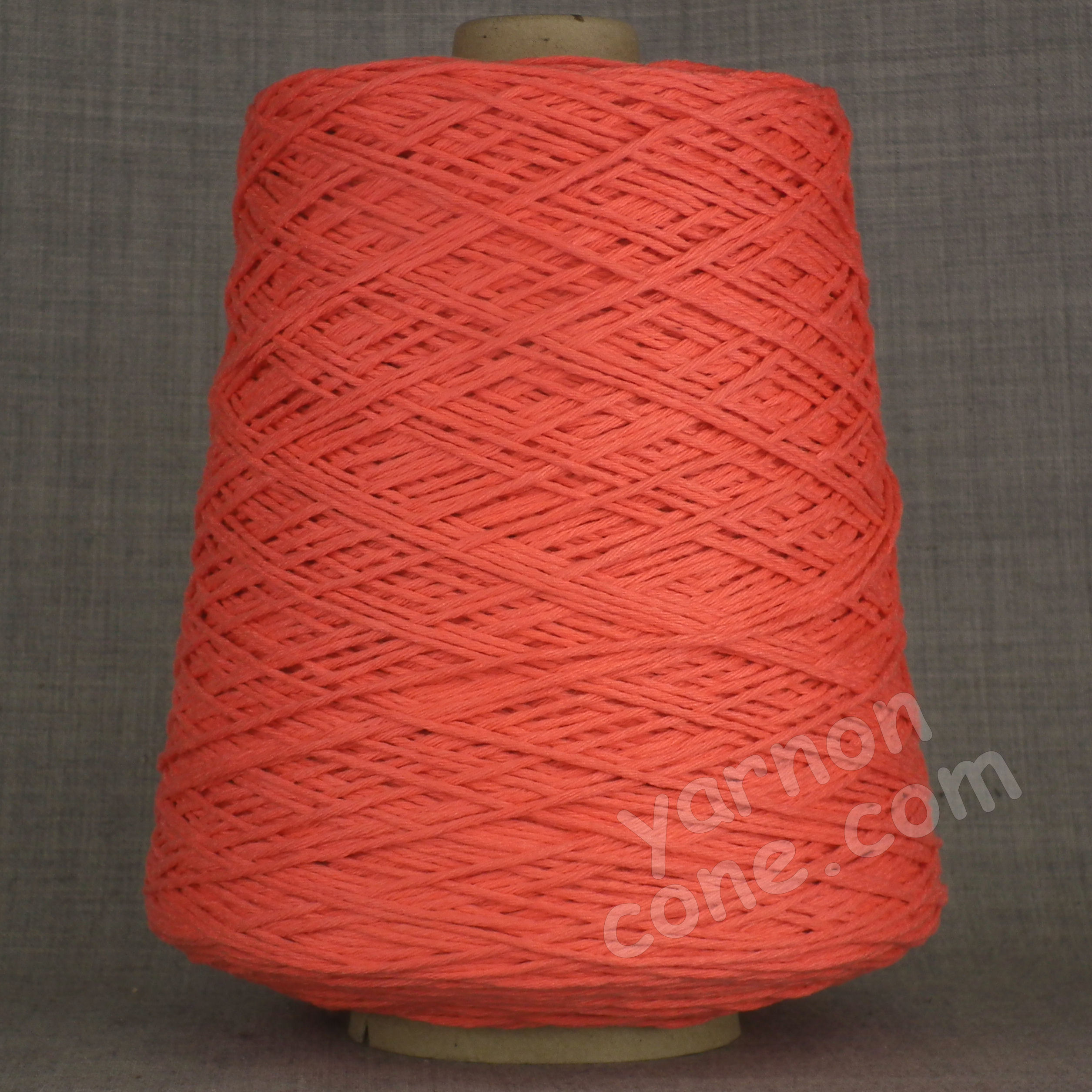 Double knitting DK soft pure cotton yarn on cone hand machine knitting weaving crochet coral