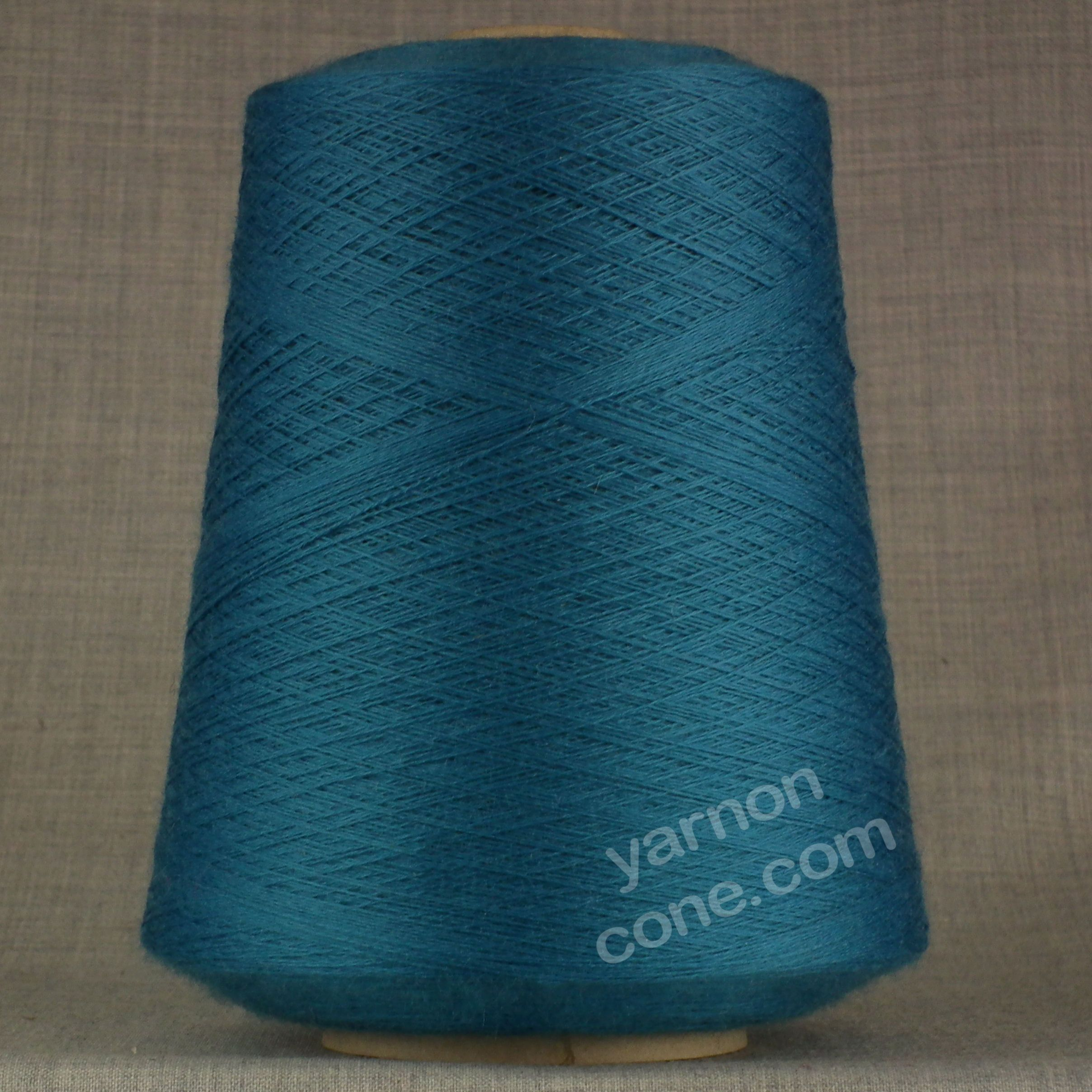 2/30s laceweight cobweb knitting machine yarn pure merino wool petrol blue