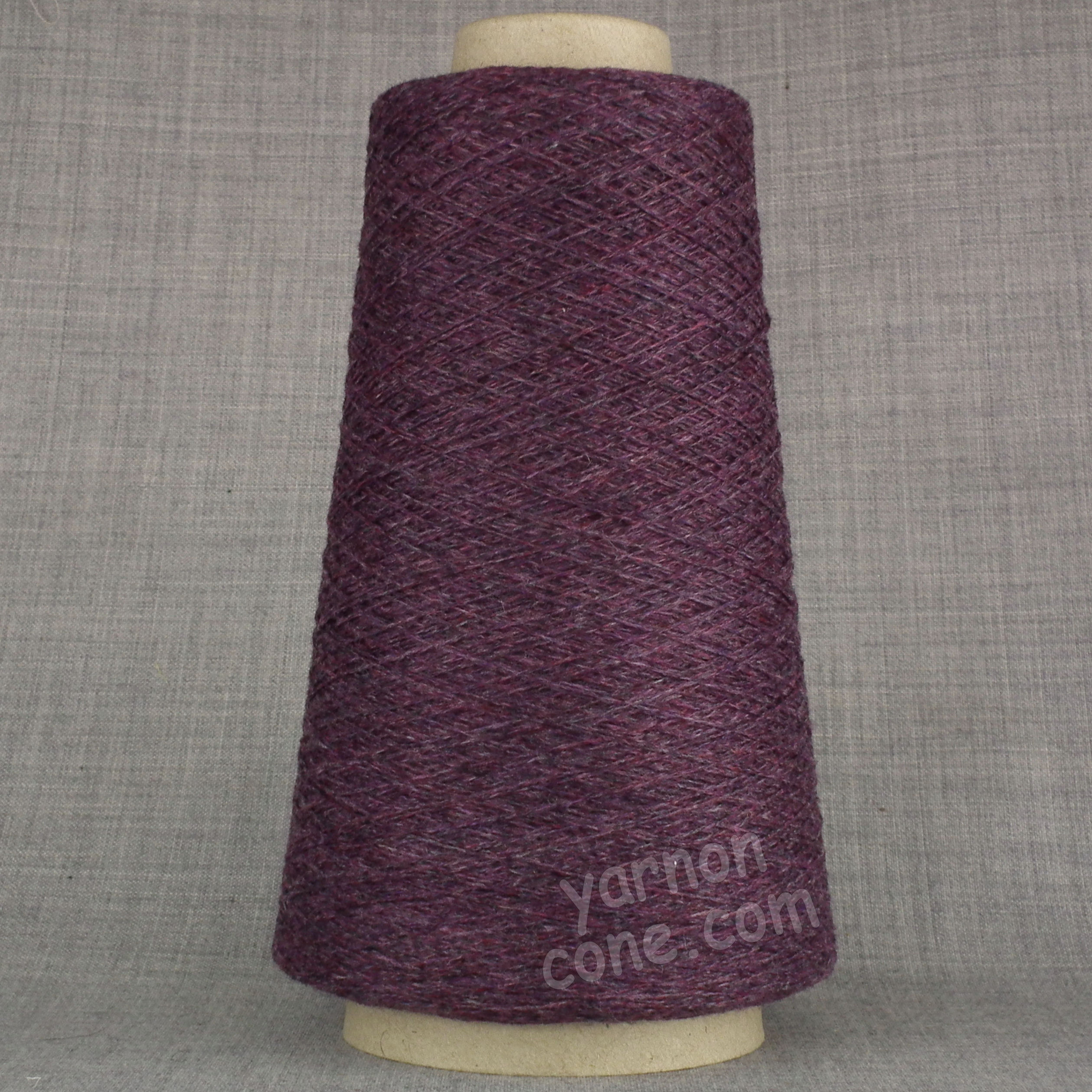 100% pure cashmere yarn on cone purple melange heather hand machine knitting