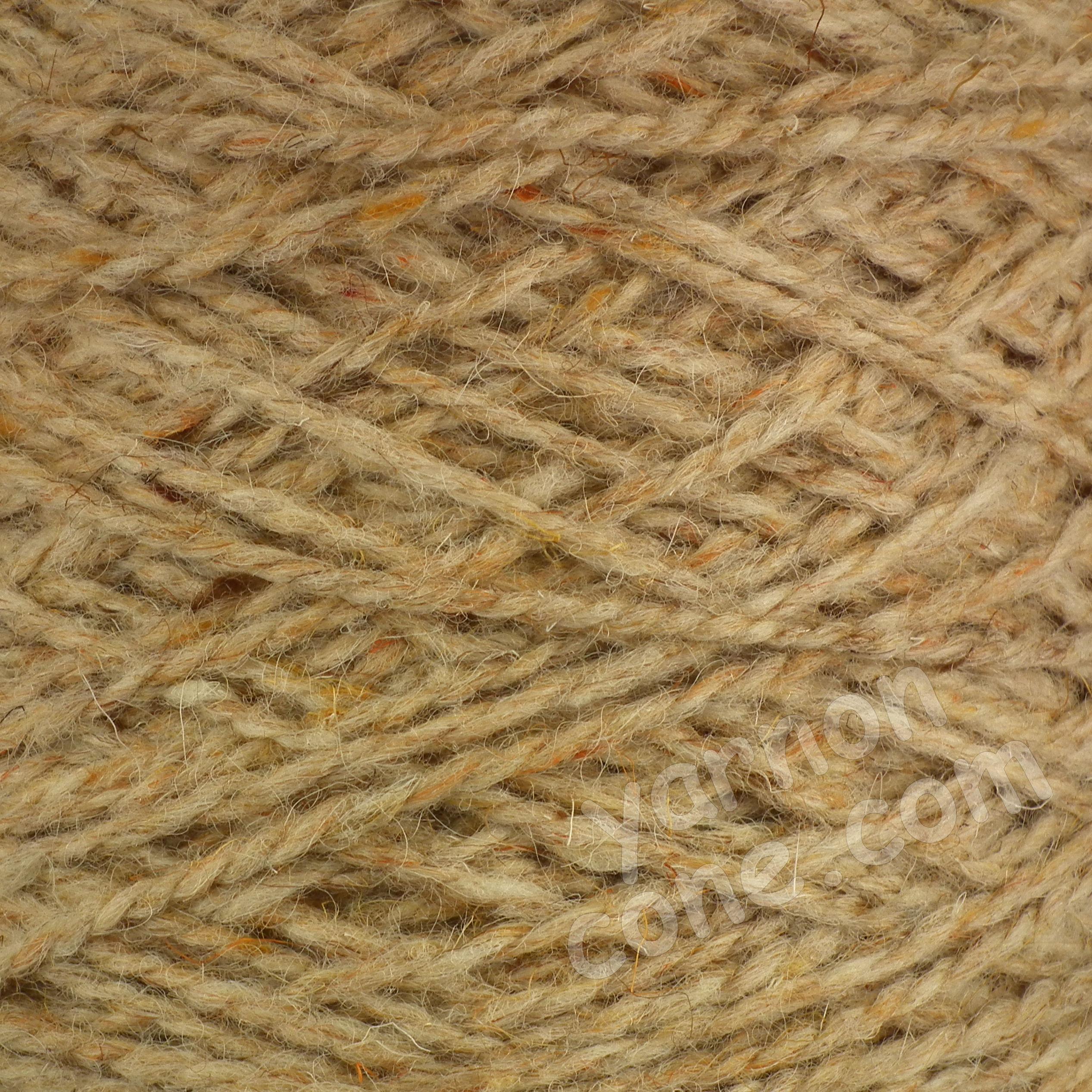 Berber rug making carpet yarn weaving latch hook corn berber tweed fleck natural BB12 wool cone