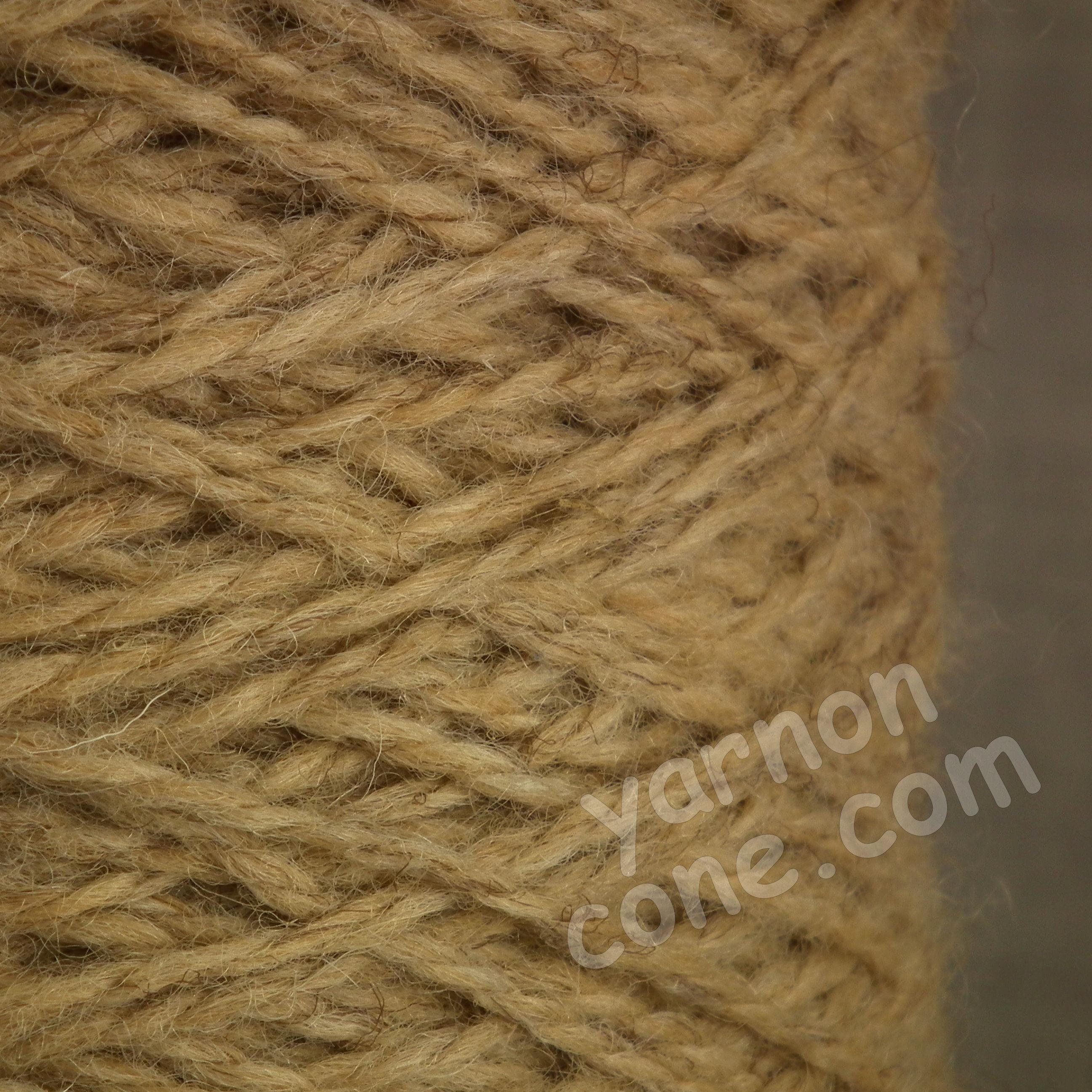 Berber rug making carpet yarn weaving latch hook corn berber beige tweed BB43 wool cone