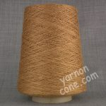 soft 4 ply viscose linen yarn on cone knitting weaving crochet copper brown