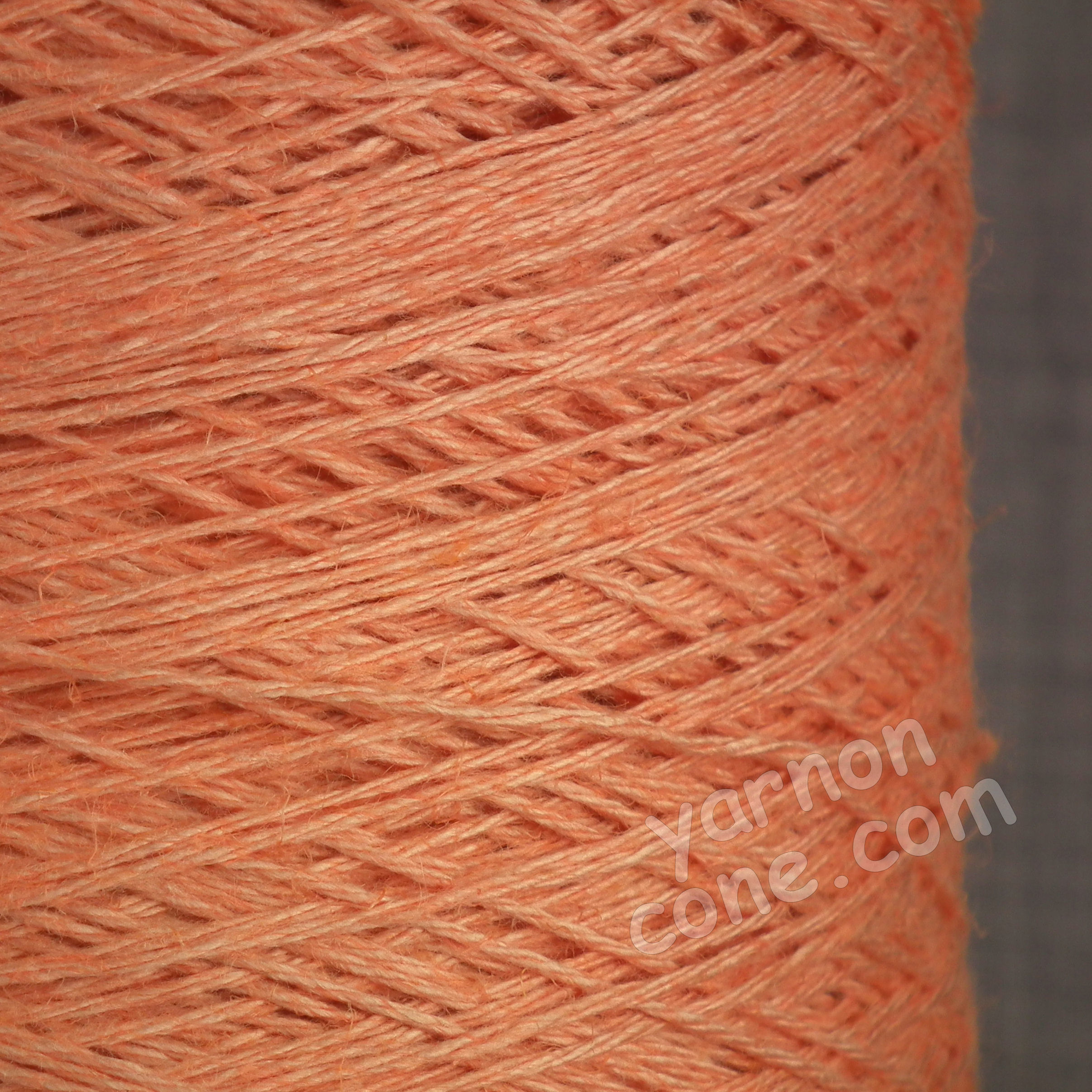 soft 4 ply viscose linen yarn on cone knitting weaving crochet peach