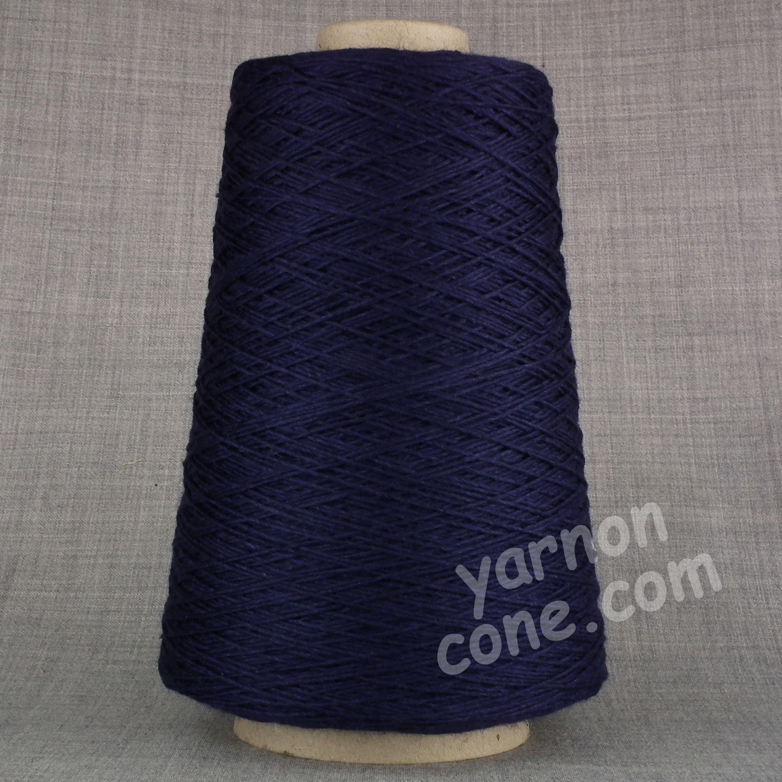 soft 4 ply merino silk pure luxury hand machine knitting yarn on cone navy blue