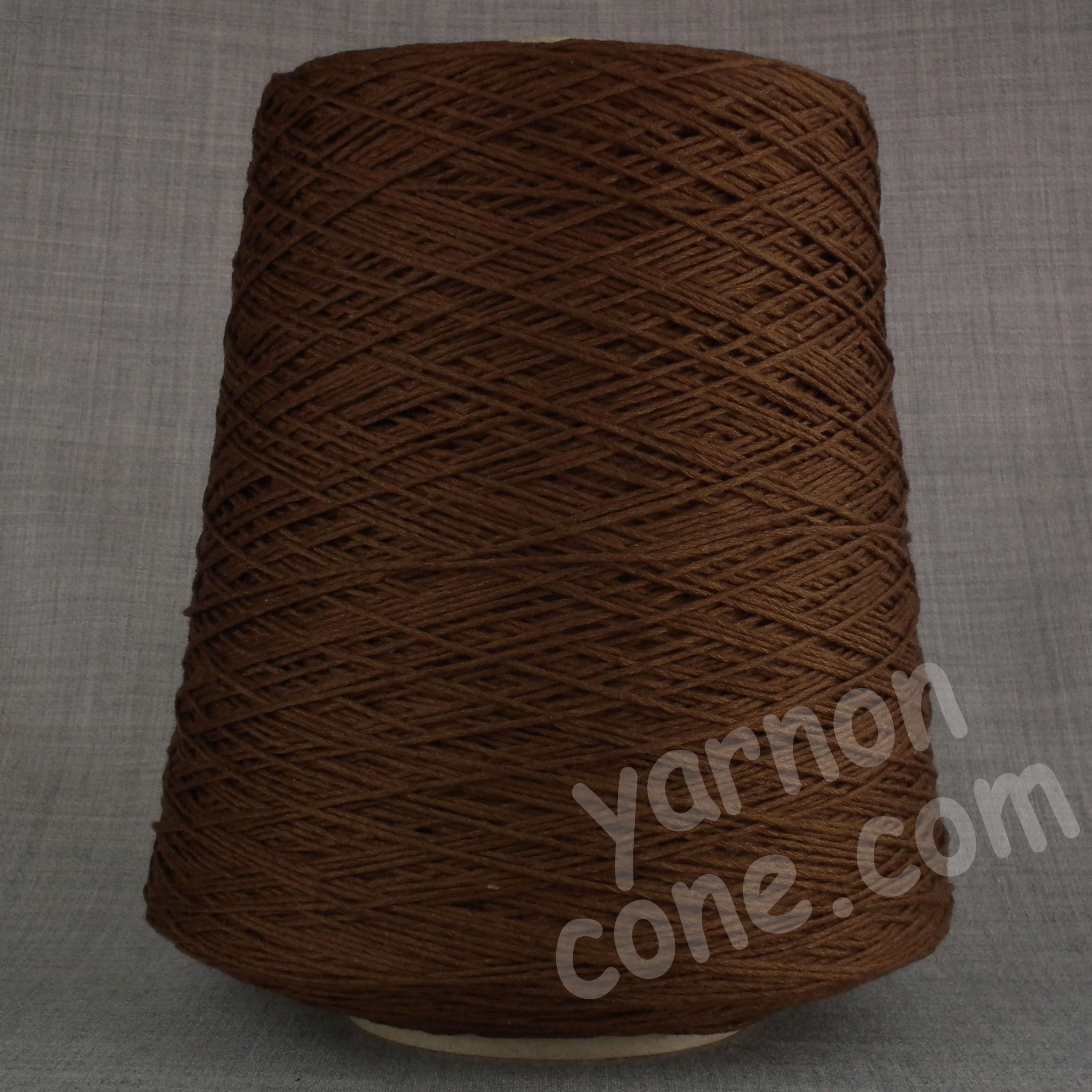 cashmere cotton soft yarn on cone 4 ply knitting weaving crochet luxury UK chocolate brown
