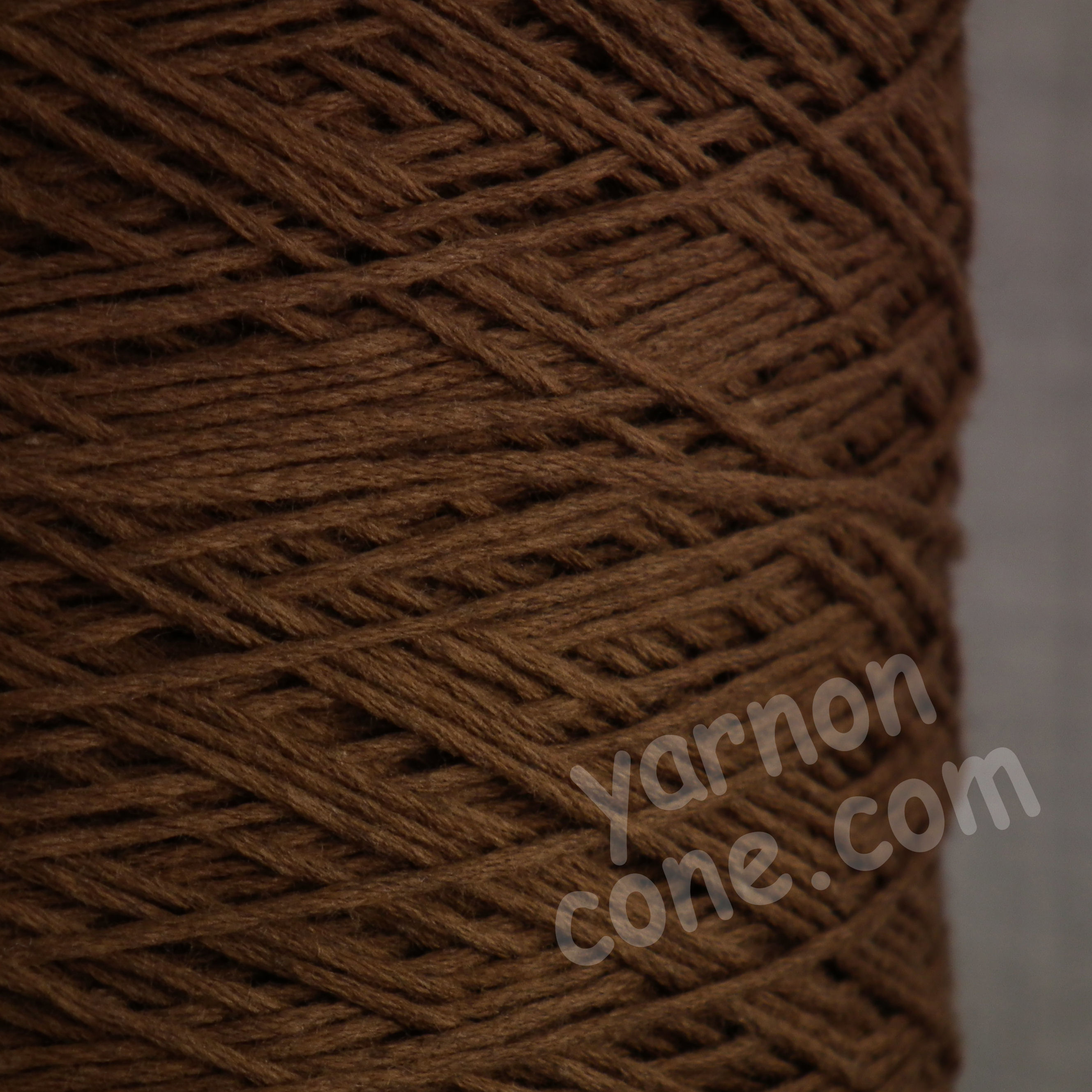 cashmere cotton soft yarn on cone 4 ply knitting weaving crochet luxury UK chocolate brown