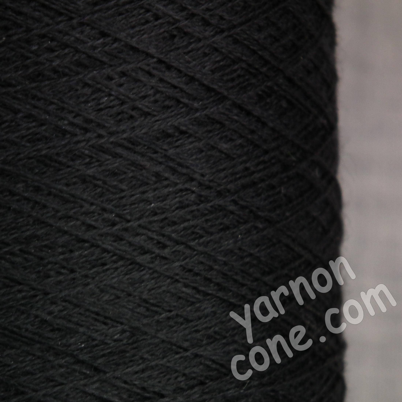 2/60NM extra fine merino wool yarn on cone black