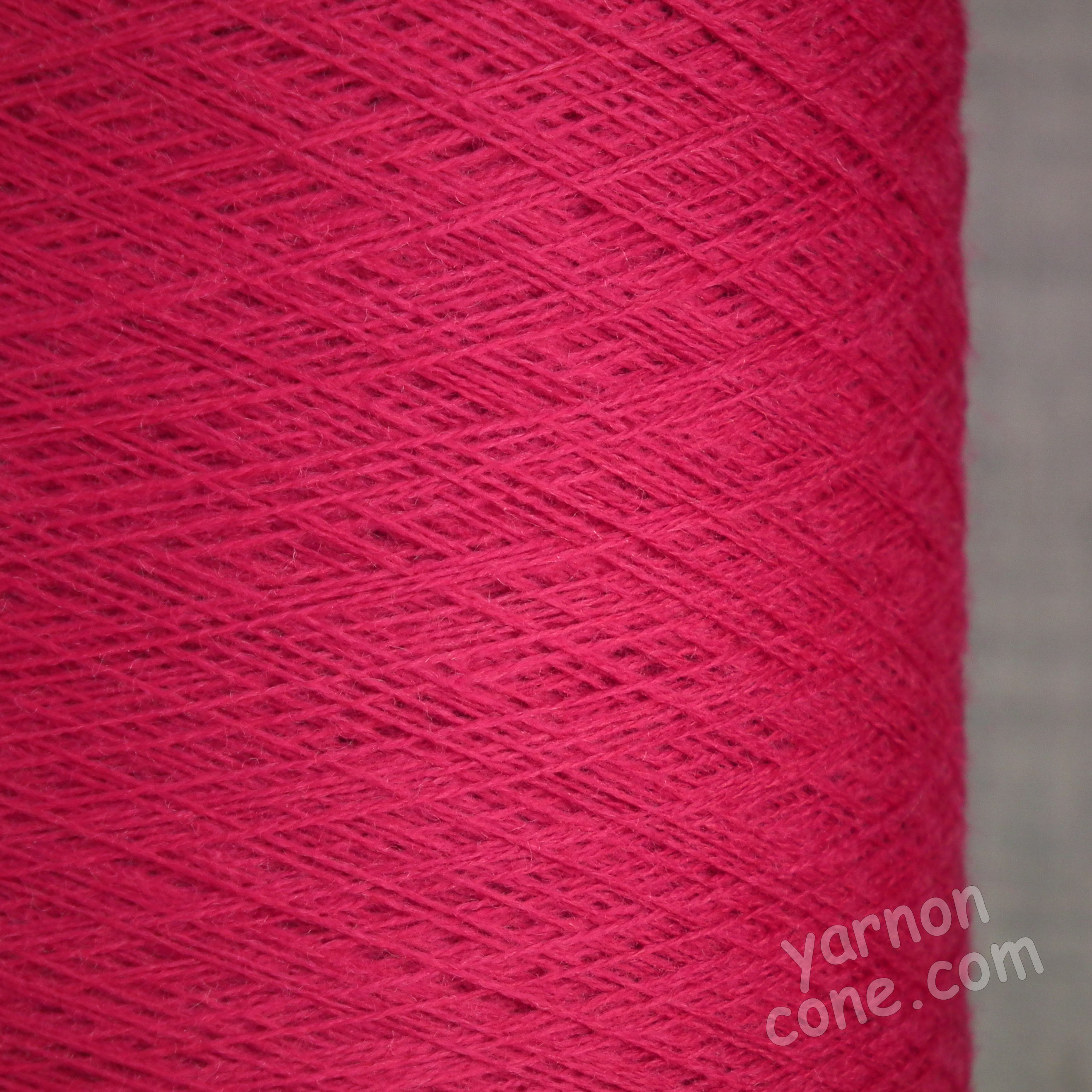 2/60NM extra fine merino wool knitting yarn on cone cobweb weight cerise pink