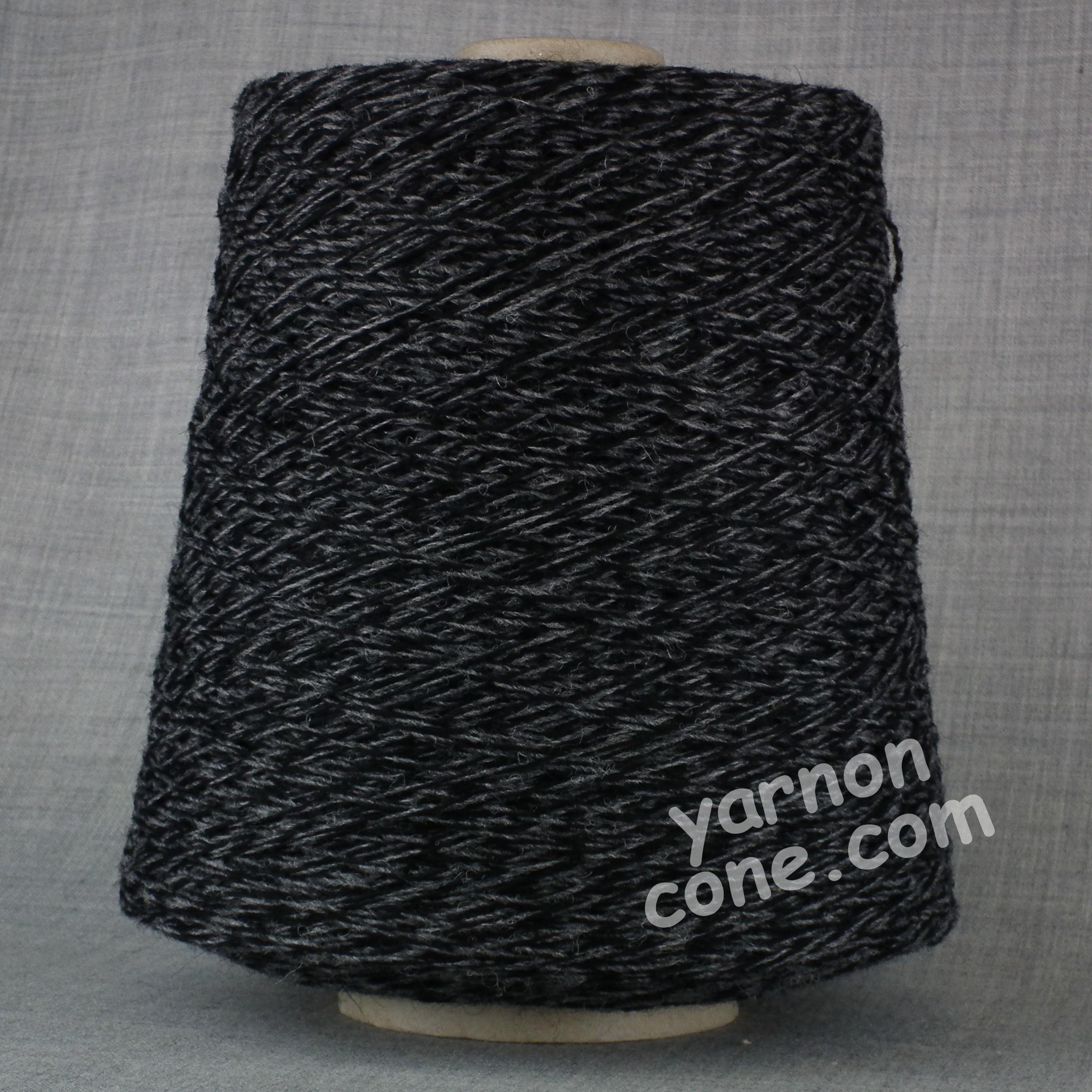 Shetland weaving wool nylon 80 20 2/9 NM black grey tweed marl yarn on cone uk