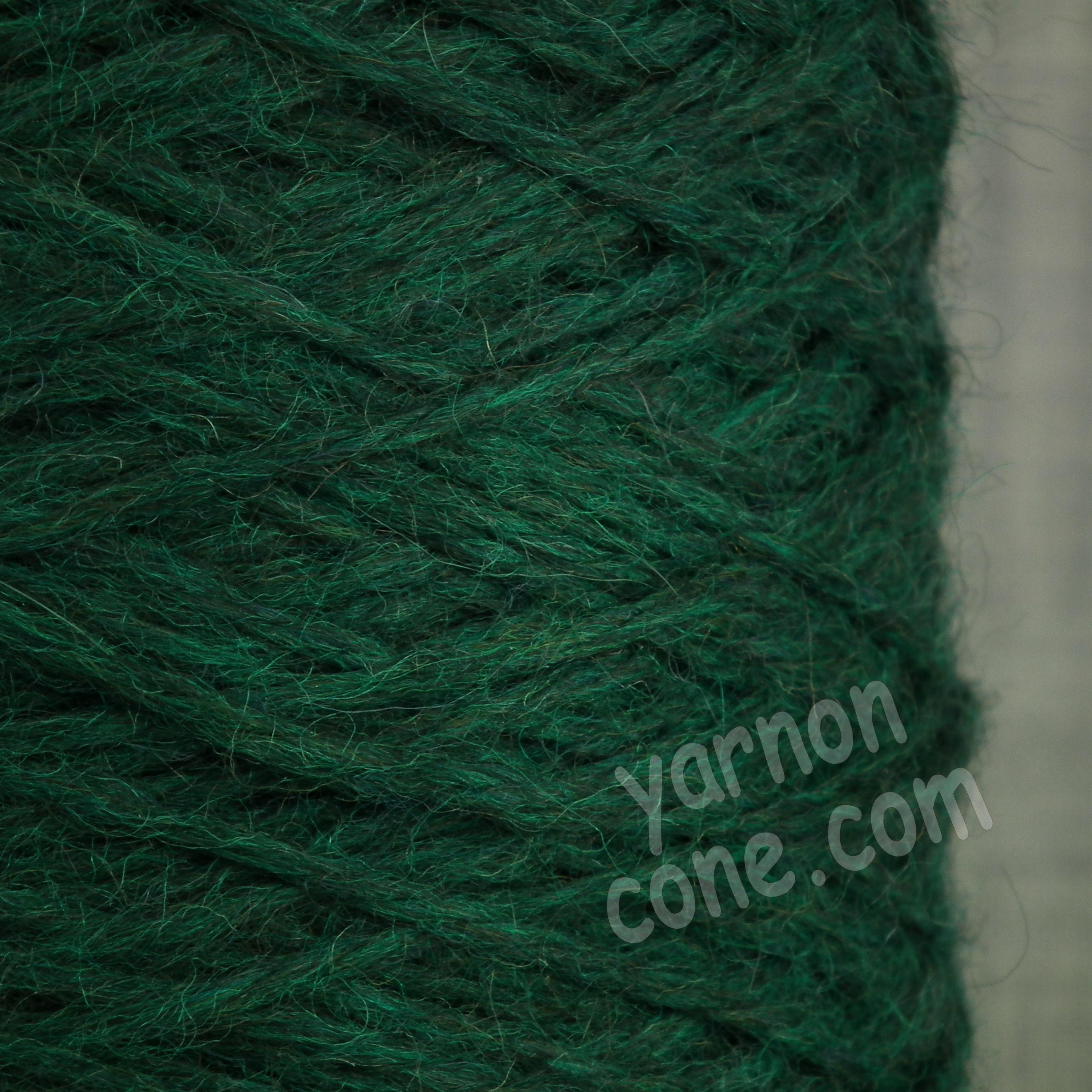 alpaca merino wool yarn aran weight soft knitting bottle green