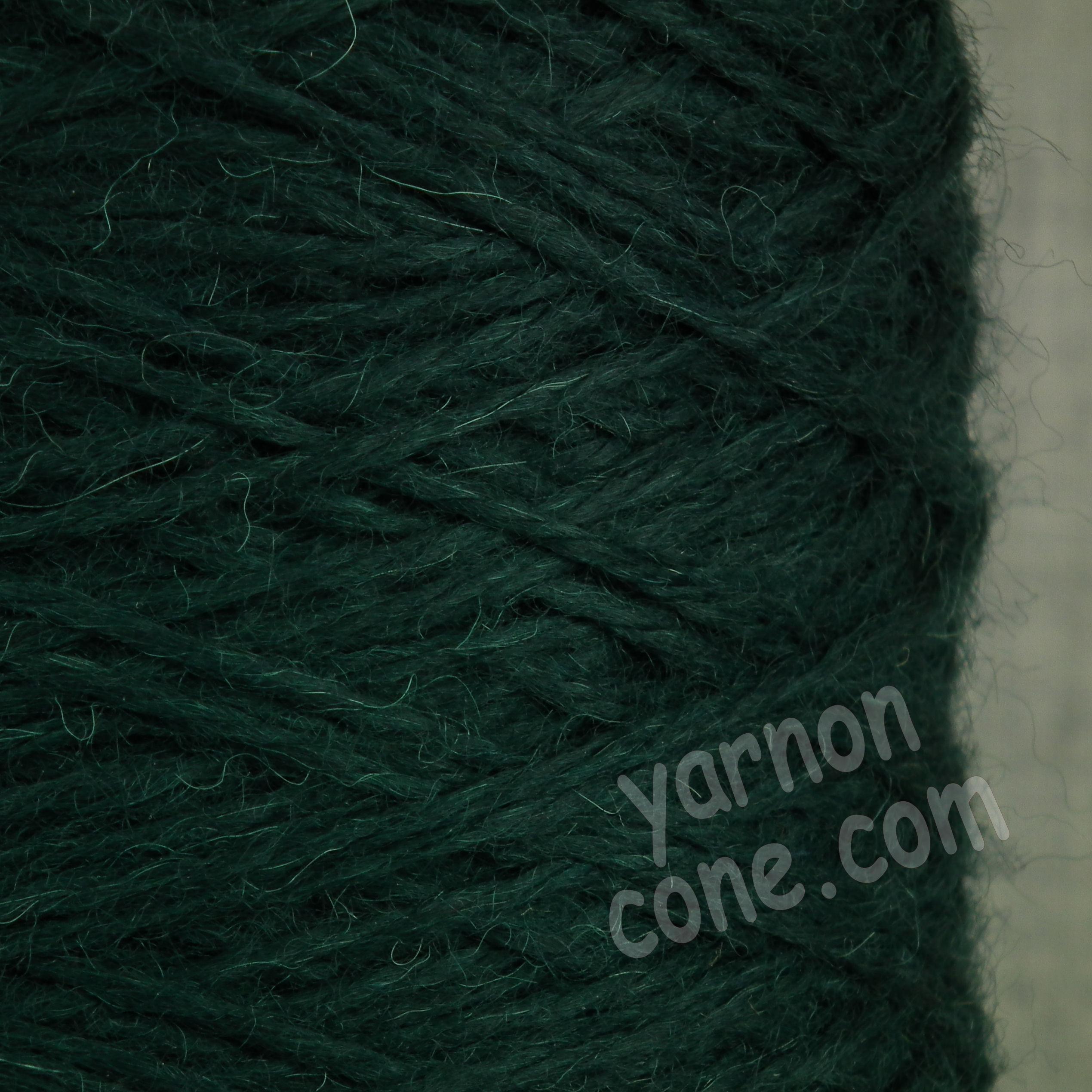 alpaca merino wool yarn aran weight soft knitting spruce green dark