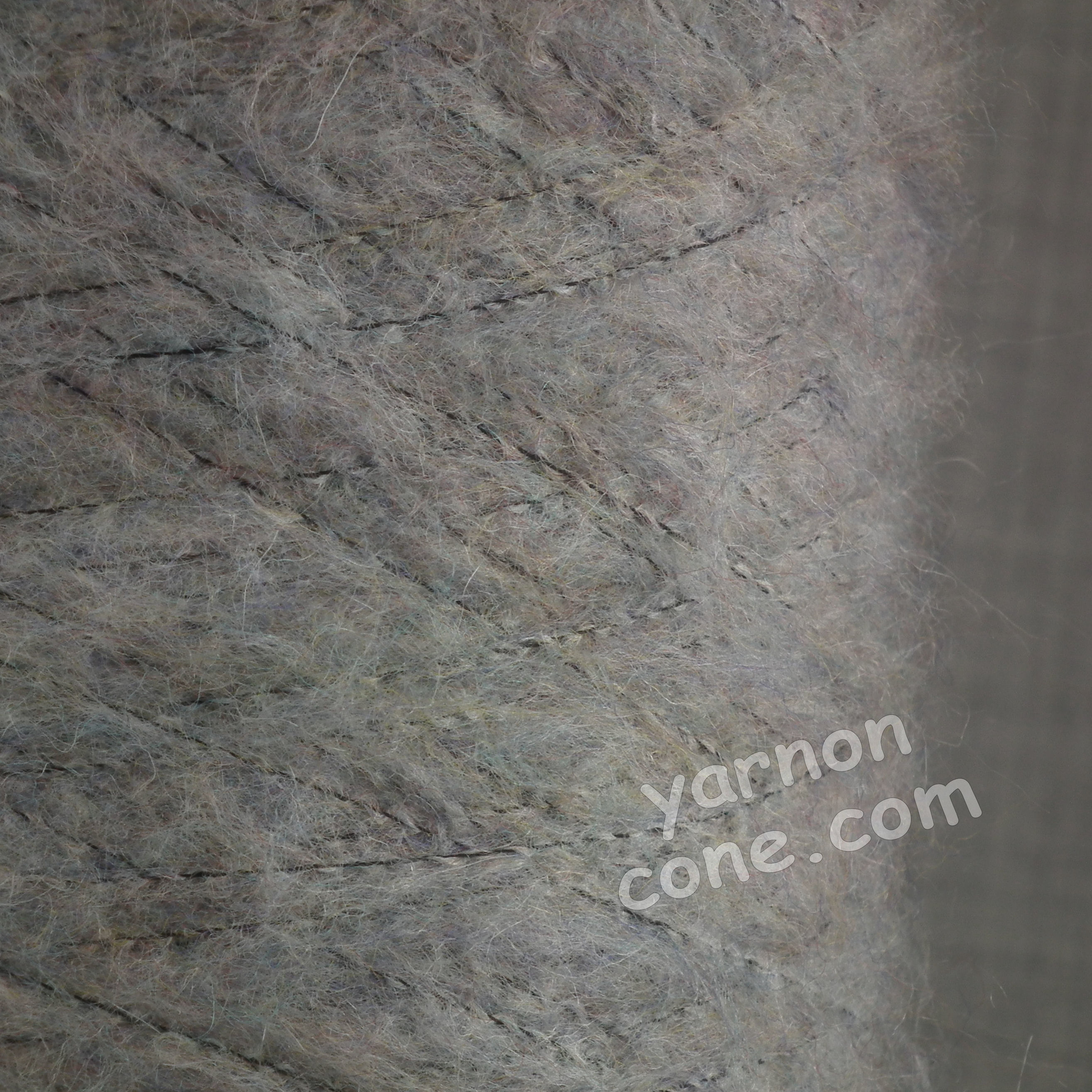 mohair wool viscose blend 4 ply yarn on cone soft fluffy warm hand machine knitting uk silver grey melange