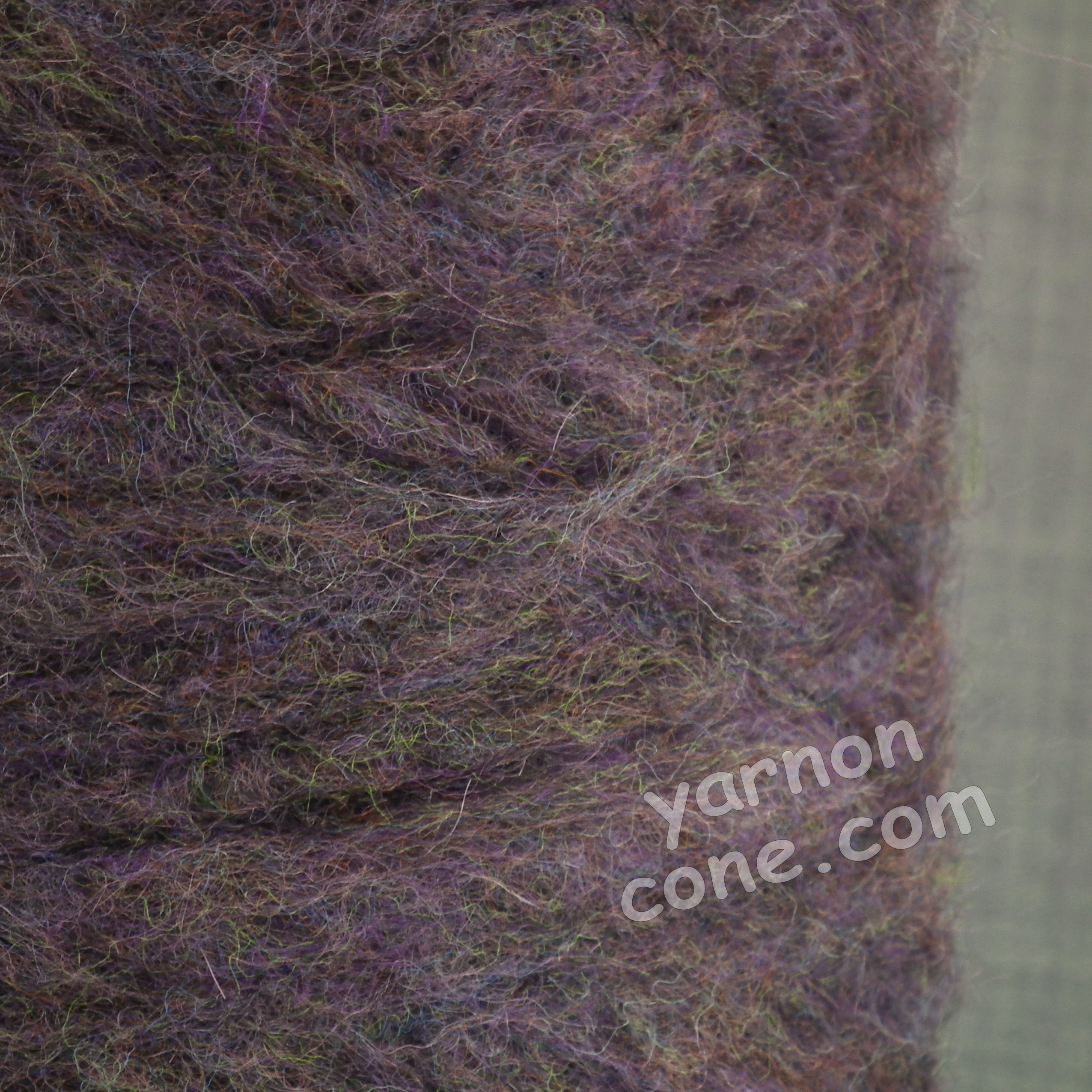 mohair wool viscose blend 4 ply yarn on cone soft fluffy warm hand machine knitting uk purple melange
