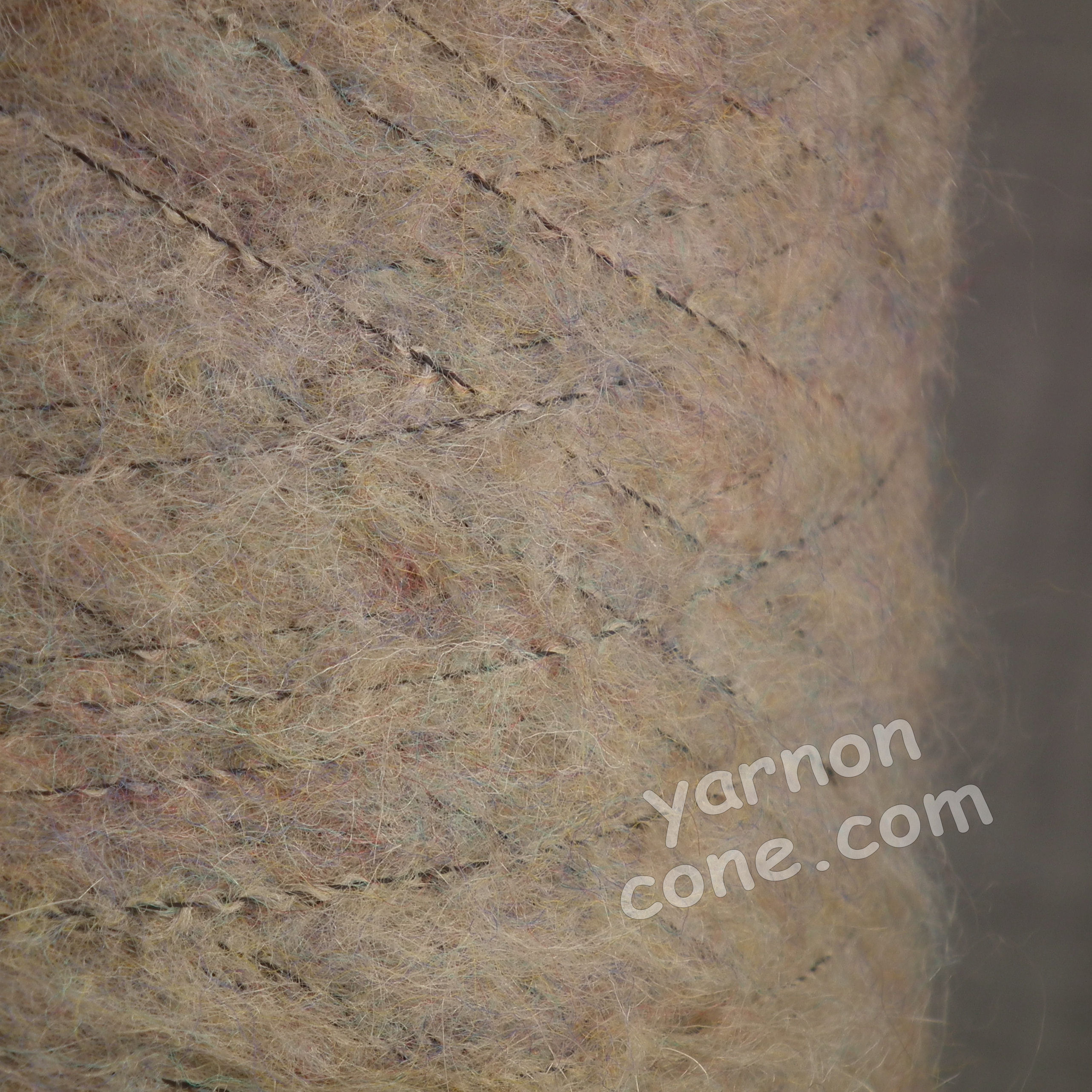 mohair wool viscose blend 4 ply yarn on cone soft fluffy warm hand machine knitting uk taupe melange