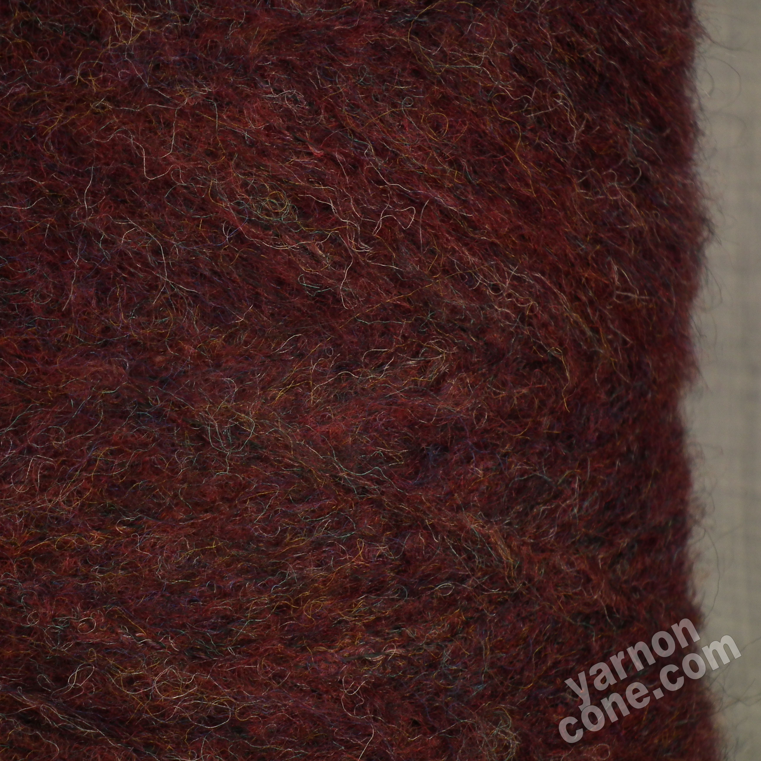 mohair wool viscose blend 4 ply yarn on cone soft fluffy warm knitting uk bordeaux oxblood