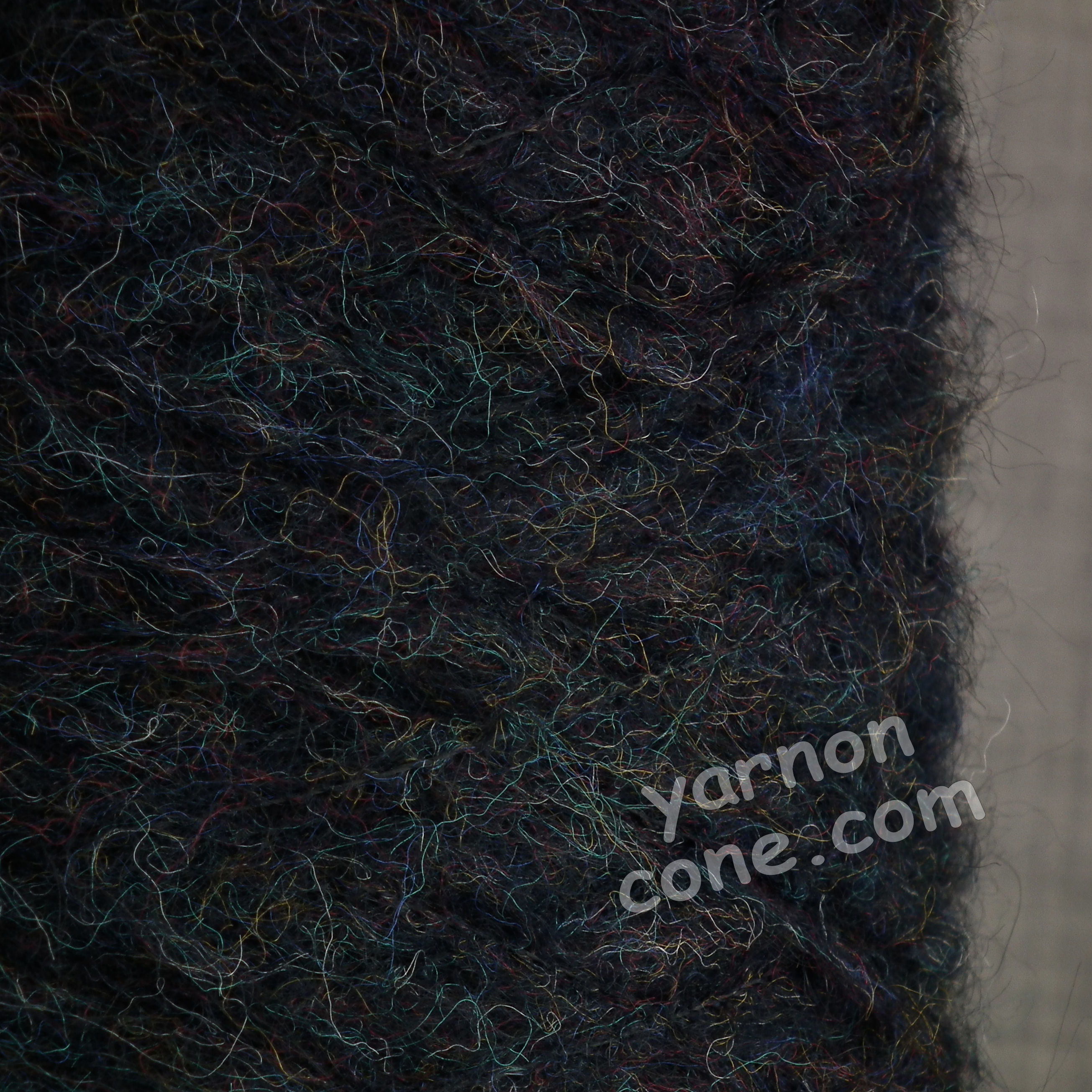 mohair wool viscose blend 4 ply yarn on cone soft fluffy warm hand machine knitting uk black melange