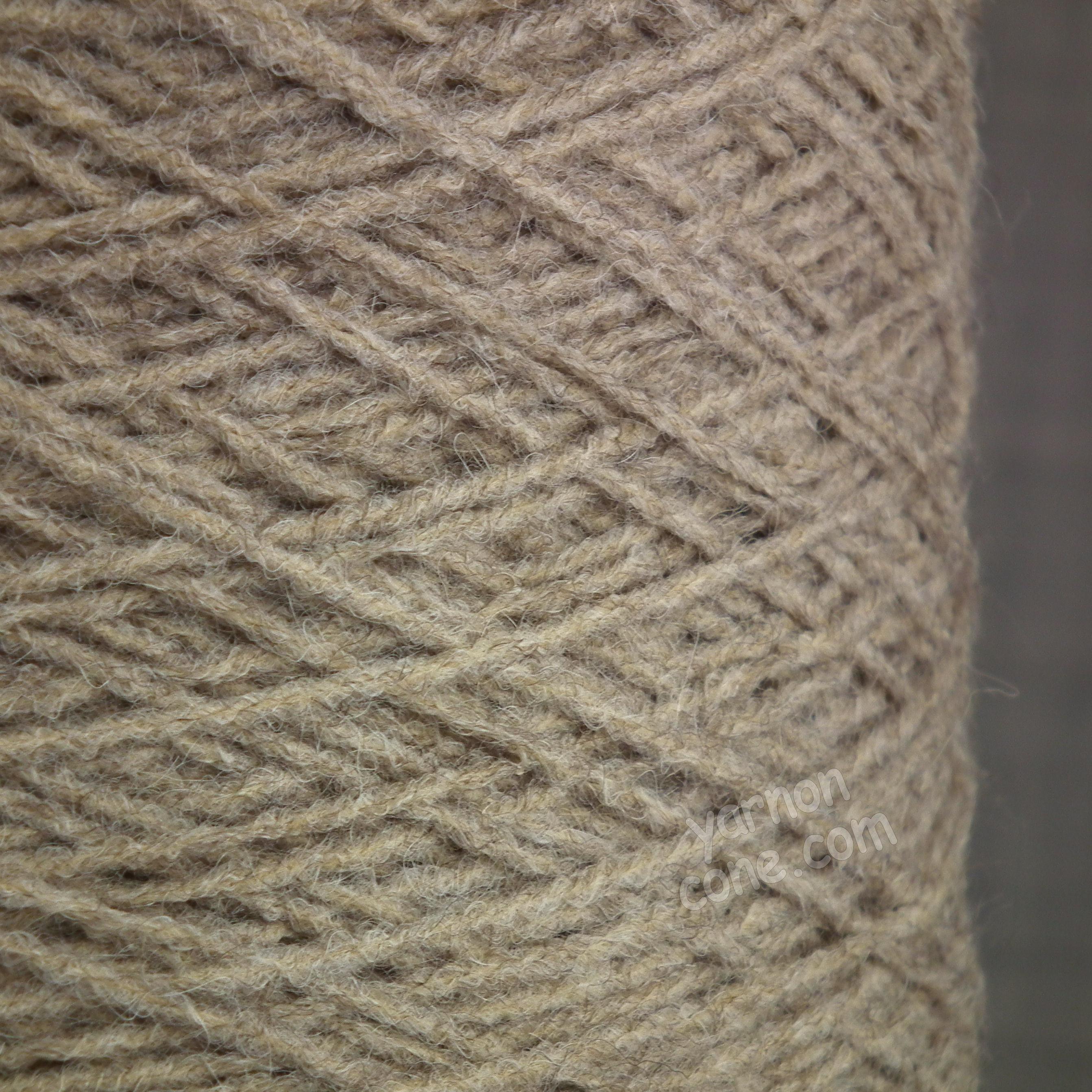 alpaca merino wool blend soft 4 ply hand and machine knitting yarn on cone uk light taupe brown