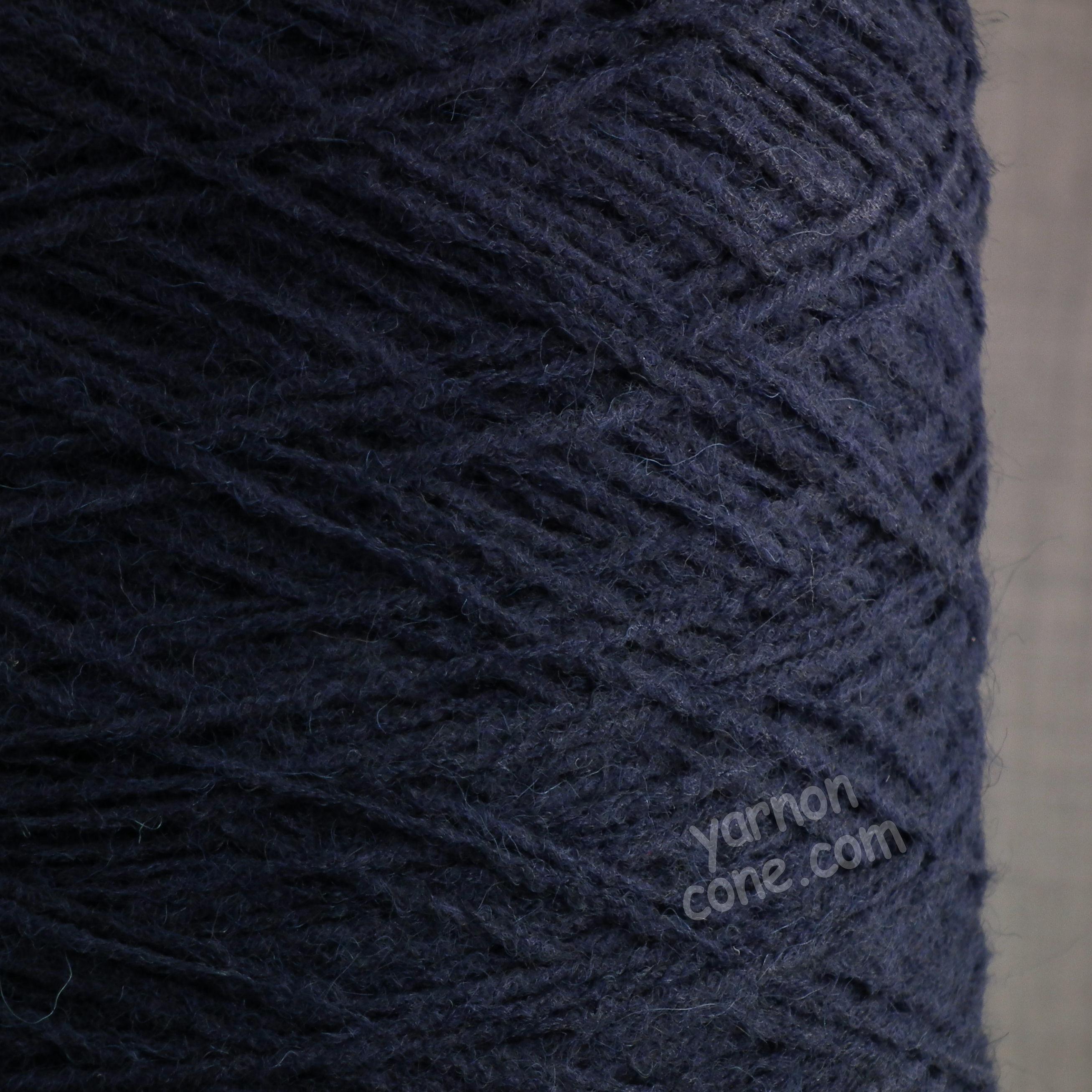 alpaca merino wool blend soft 4 ply hand and machine knitting yarn on cone uk navy blue