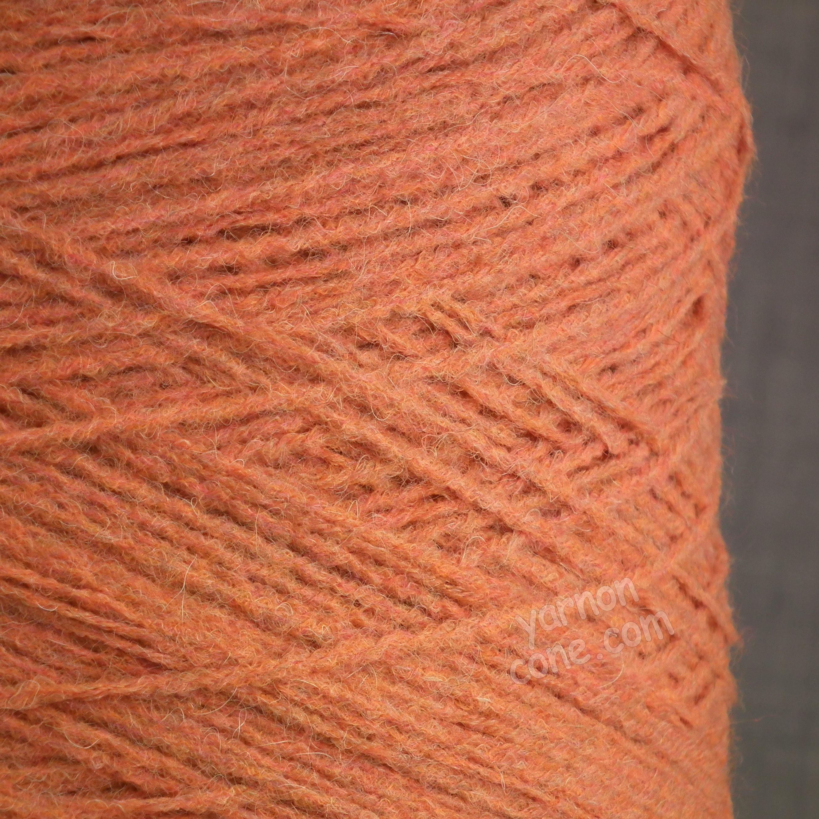 alpaca merino wool blend soft 4 ply hand and machine knitting yarn on cone uk peach