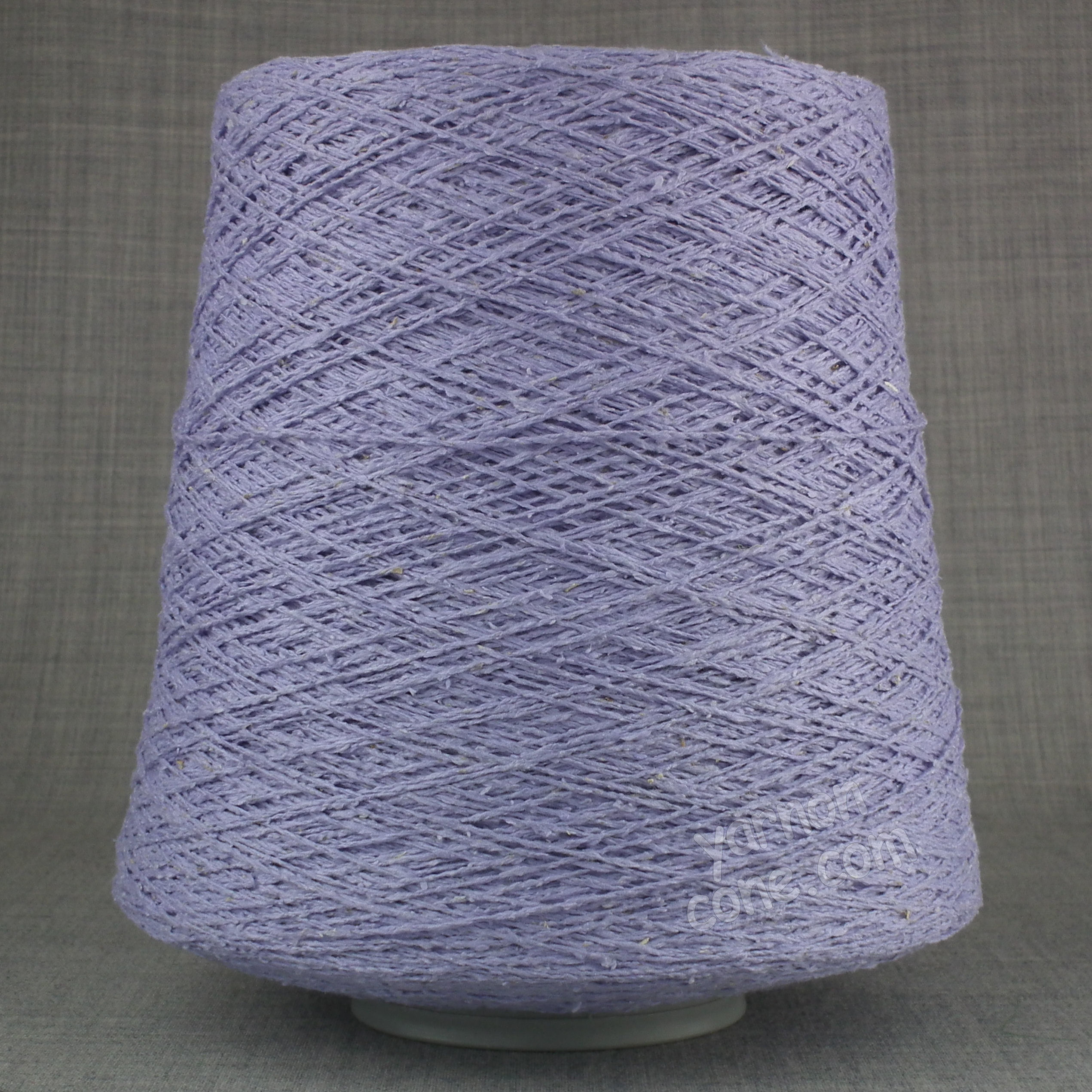 silk noil yarn on cone machine knitting yarn weaving rustic pure lilac lavender