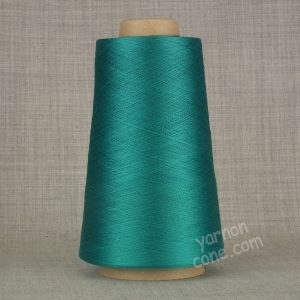 Pure silk cobweb yarn 2/120 NM italian 2/120NM on cone weaving knitting teal blue green